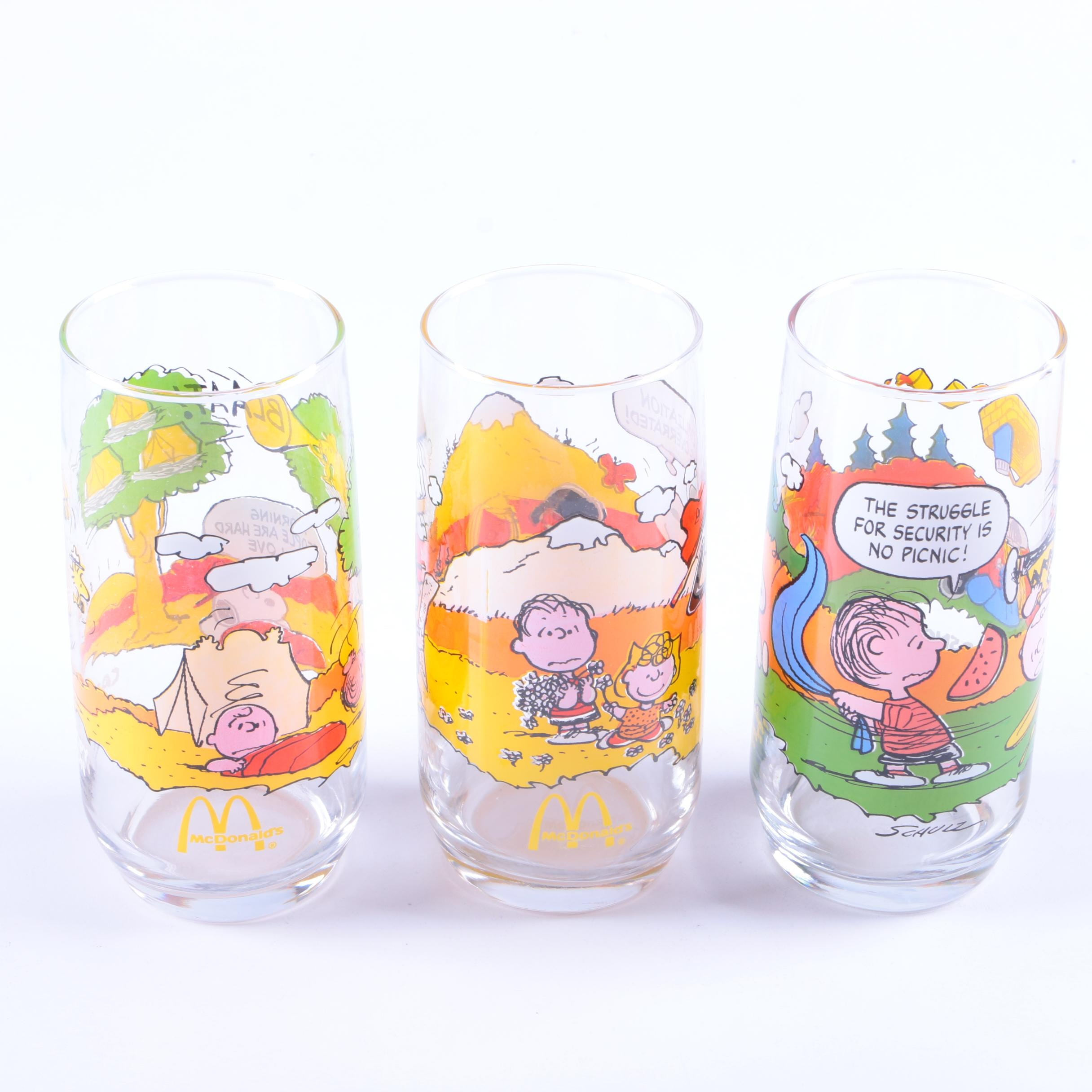 """McDonald's """"Camp Snoopy Collection"""" Glassware"""