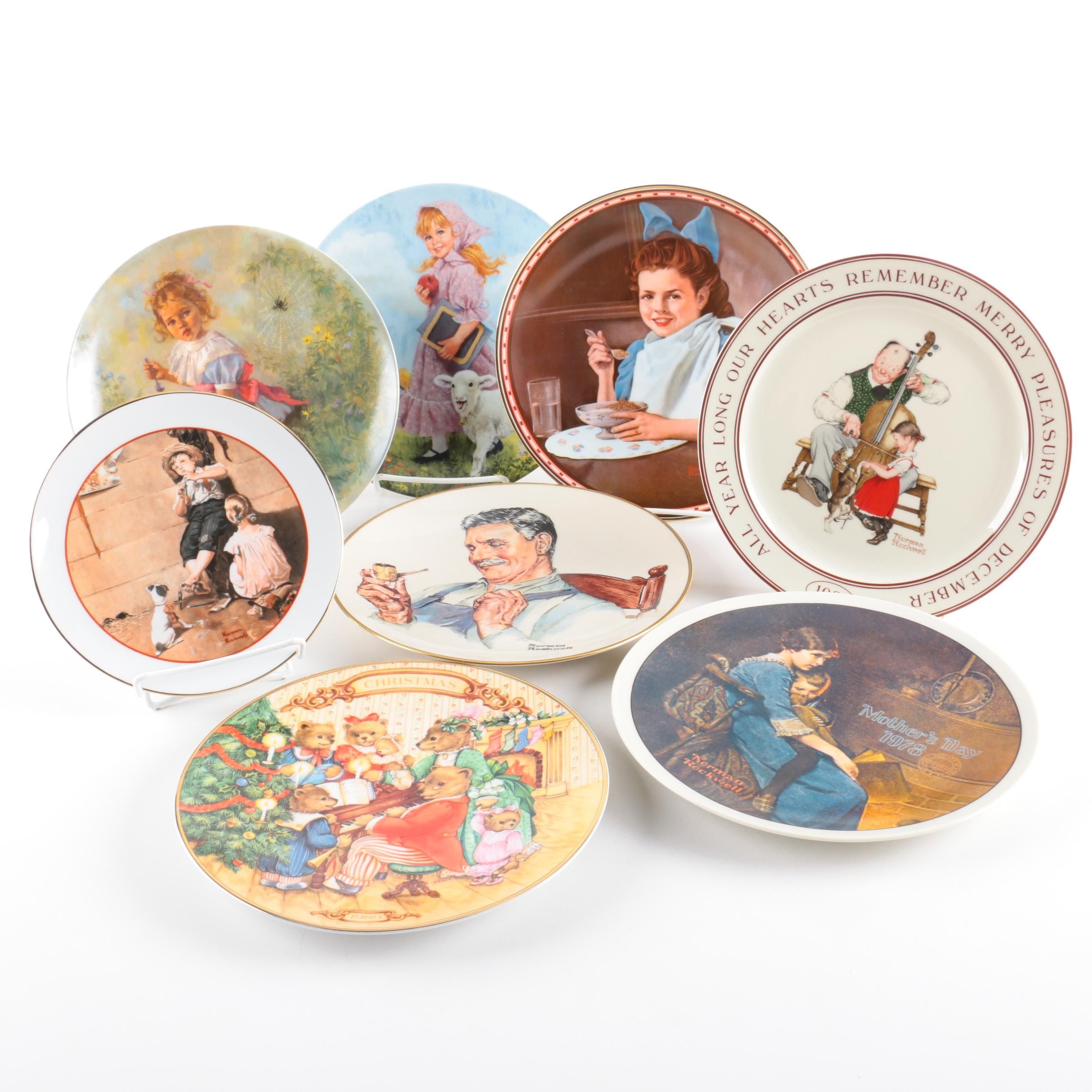 Norman Rockwell and Mother Goose Collectible Plates