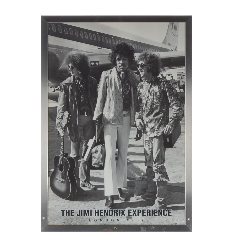 The Jimi Hendrix Experience Halftone Print London 1967