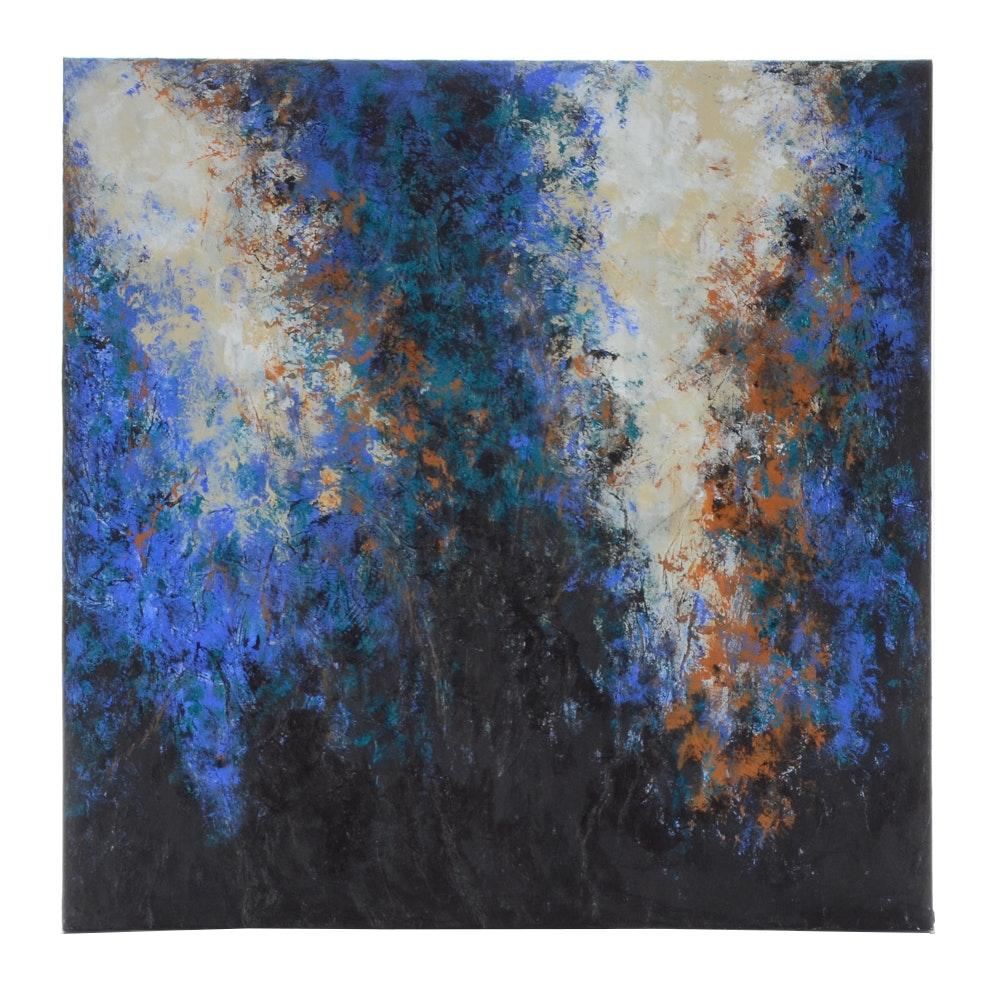 "Sanna Original Acrylic Painting ""Breaking Light"""