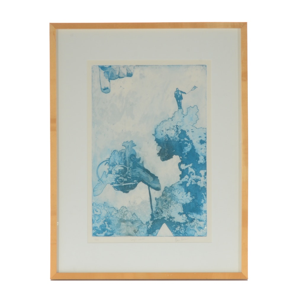 "Karen Koch Limited Edition Etching ""Jay's World"""