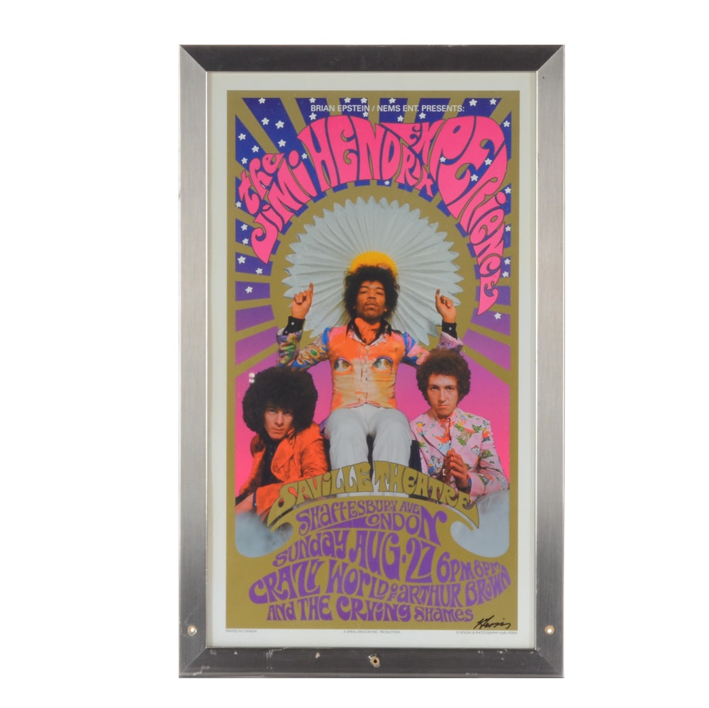 "Karl Ferris Signed ""The Jimi Hendrix Experience"" Concert Poster"