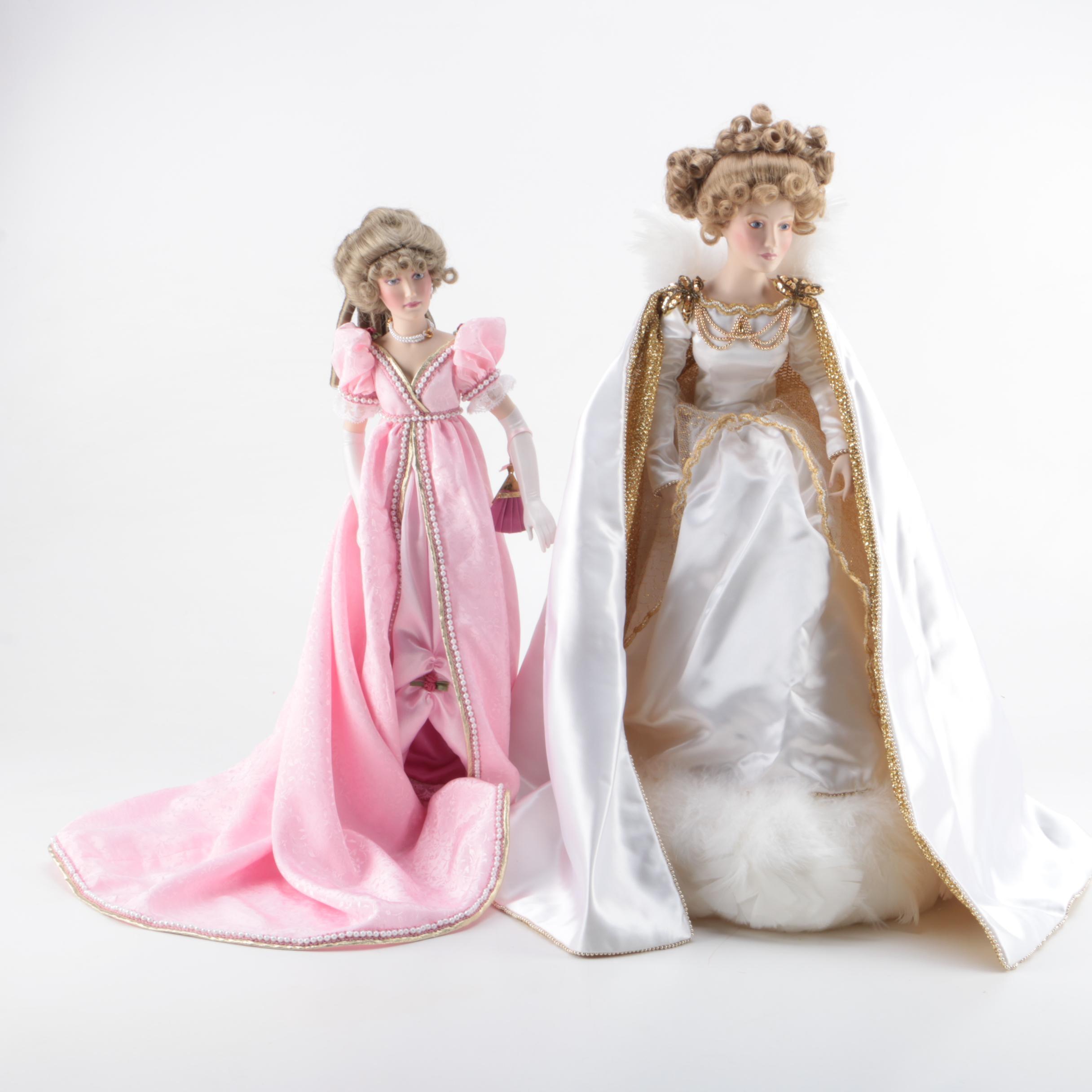 Vintage Franklin Heirloom Porcelain Dolls