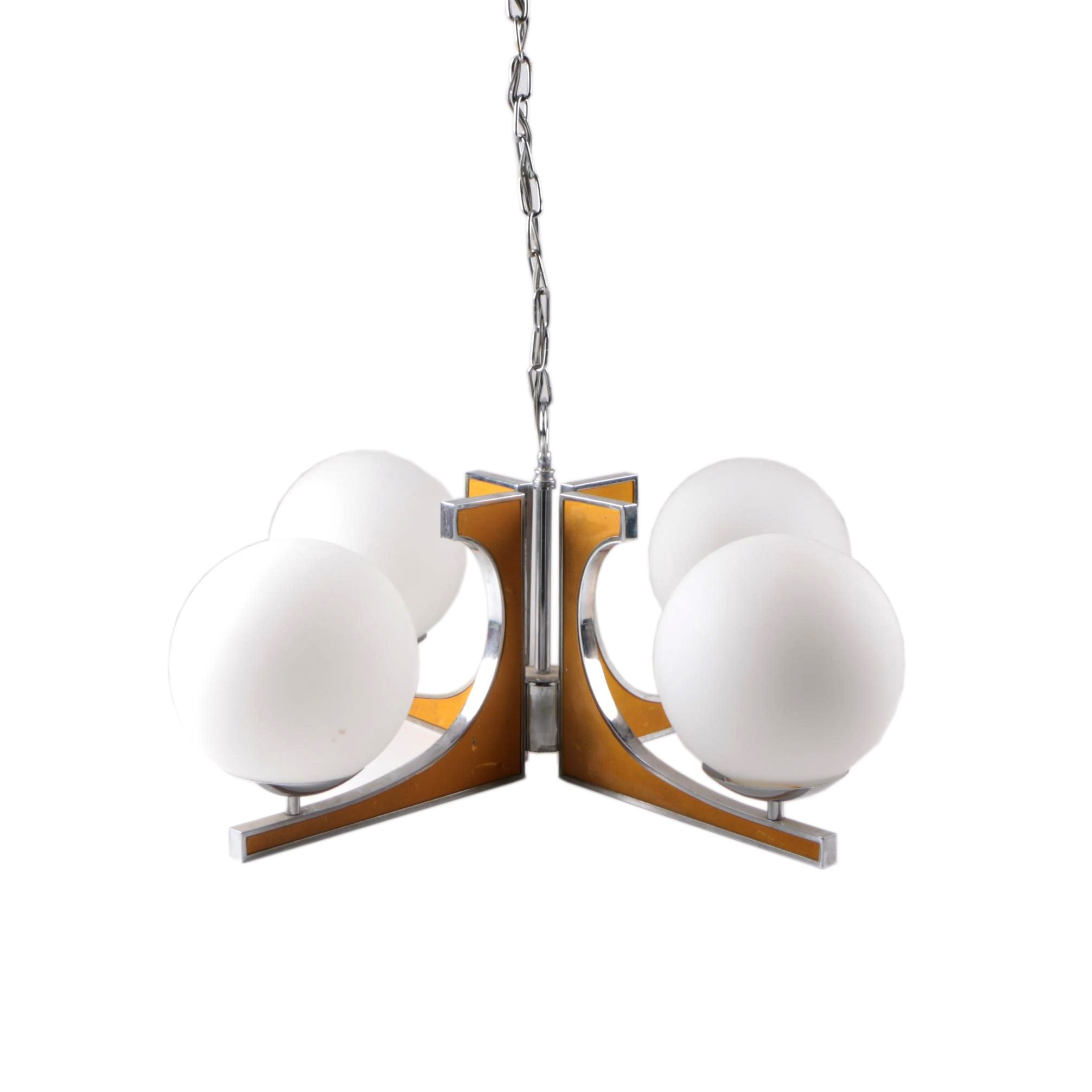 Mid Century Modern Four-Arm Chandelier by Moe Light