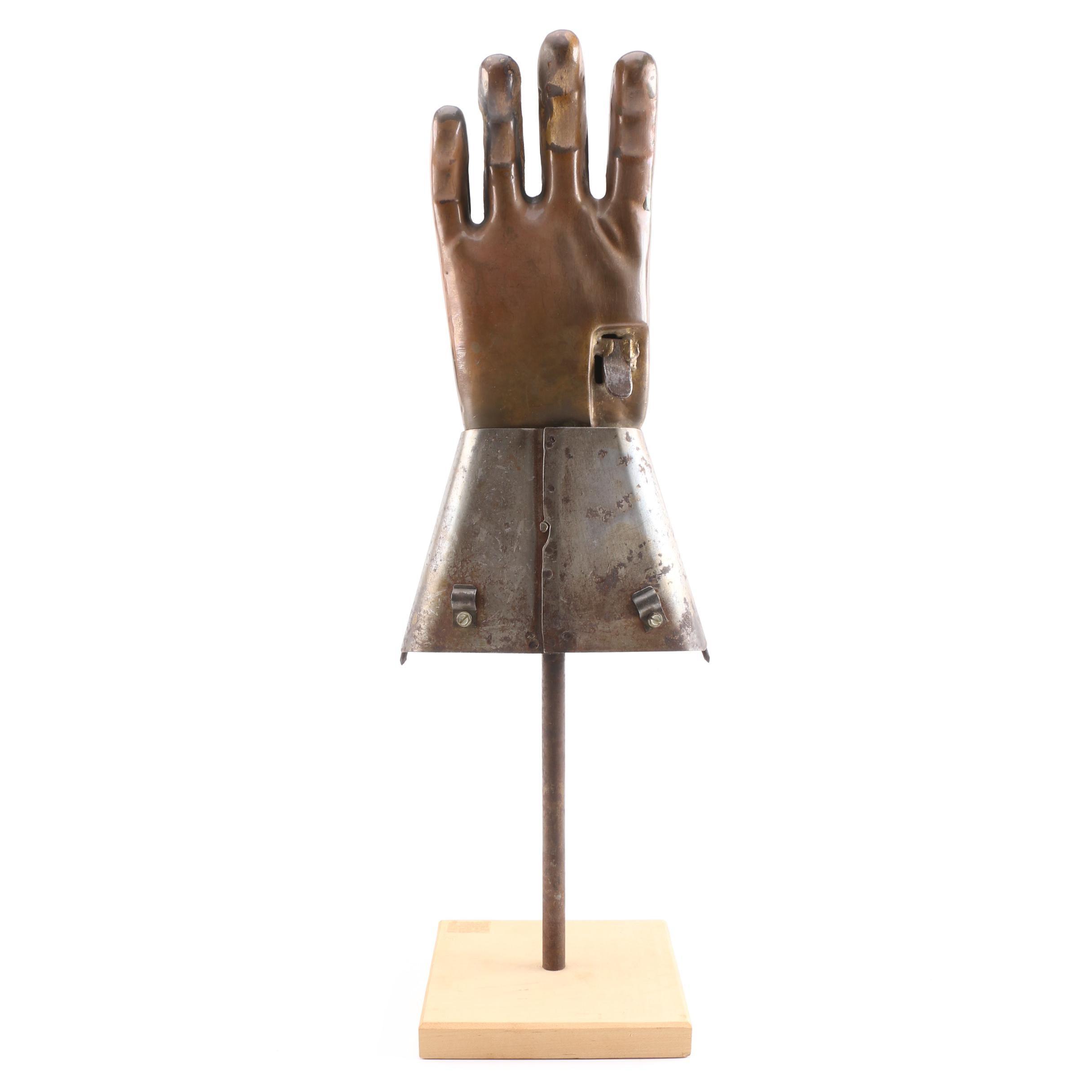 Industrial Metal Hand Sculpture