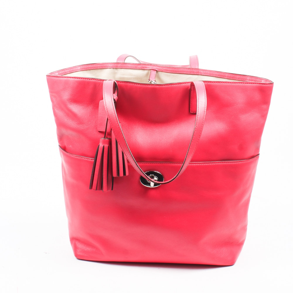 Coach Legacy Magenta Leather Tote