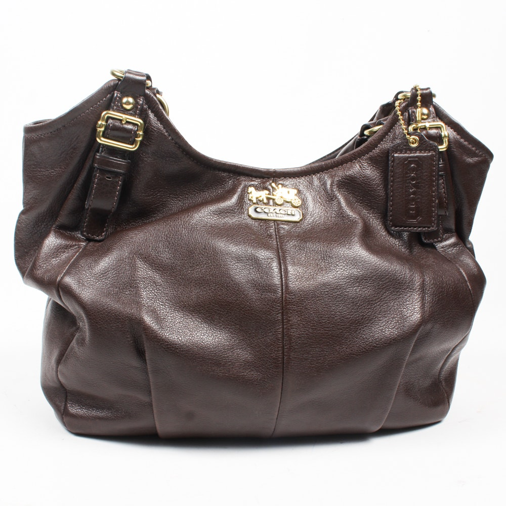 Coach Madison Brown Leather Abigail Shoulder Bag