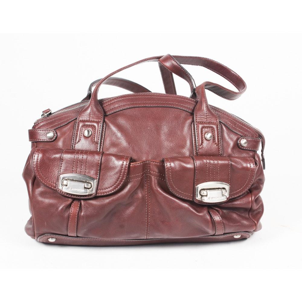 B. Makowsky Brown Leather Satchel