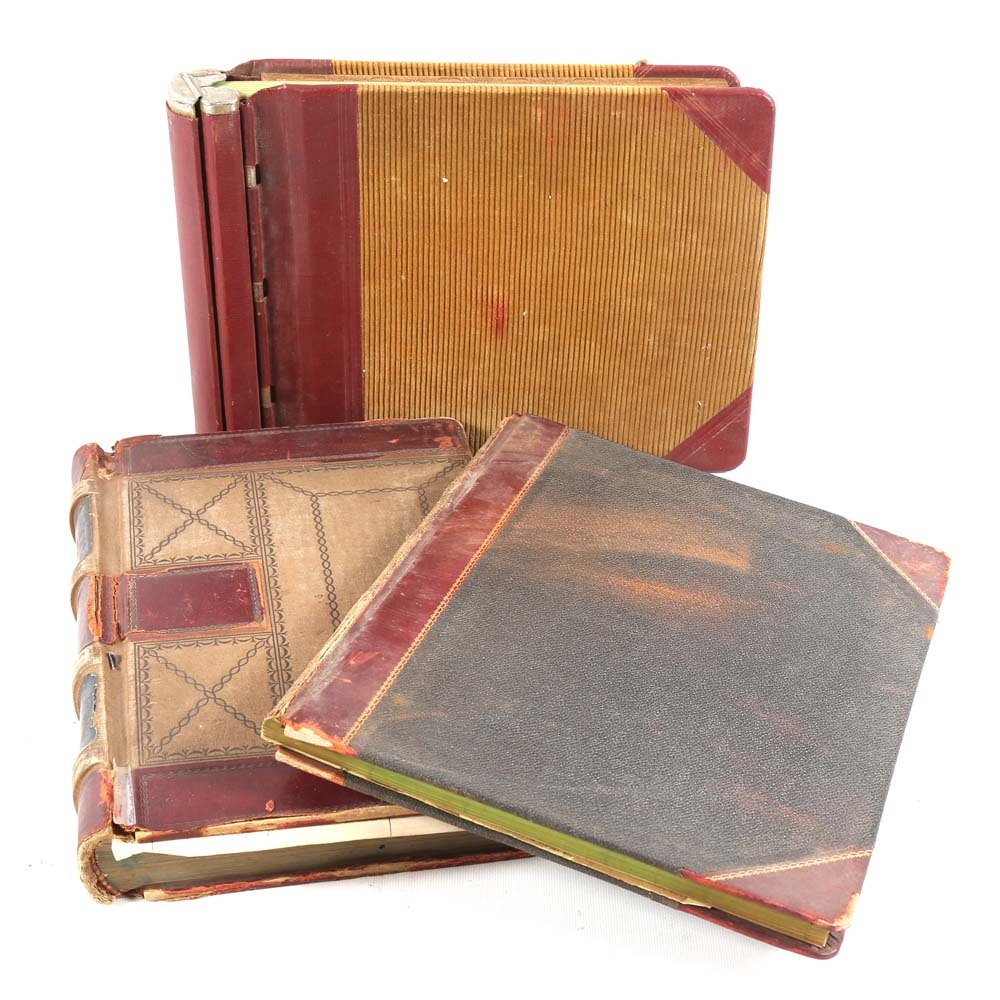 Antique Leather Bound Registries