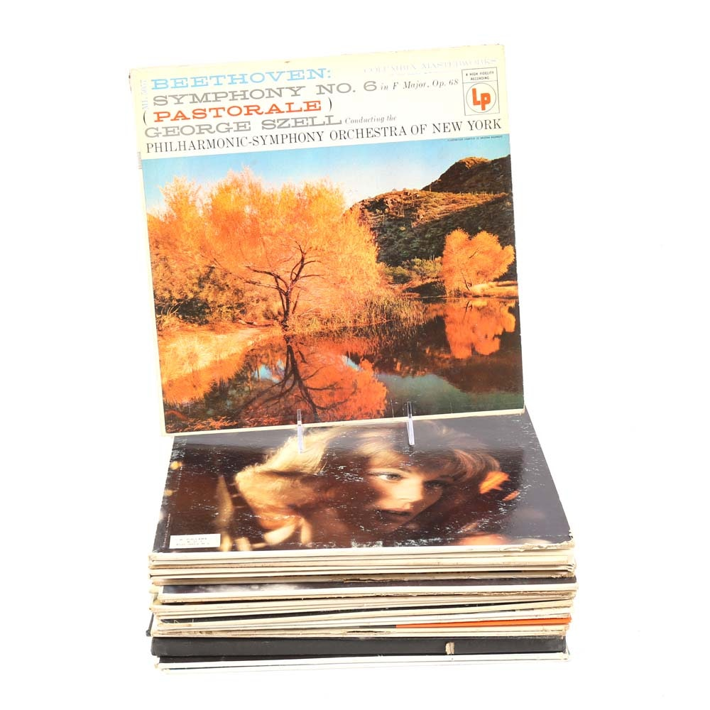 Vintage Collection of Classical Music Vinyl Records