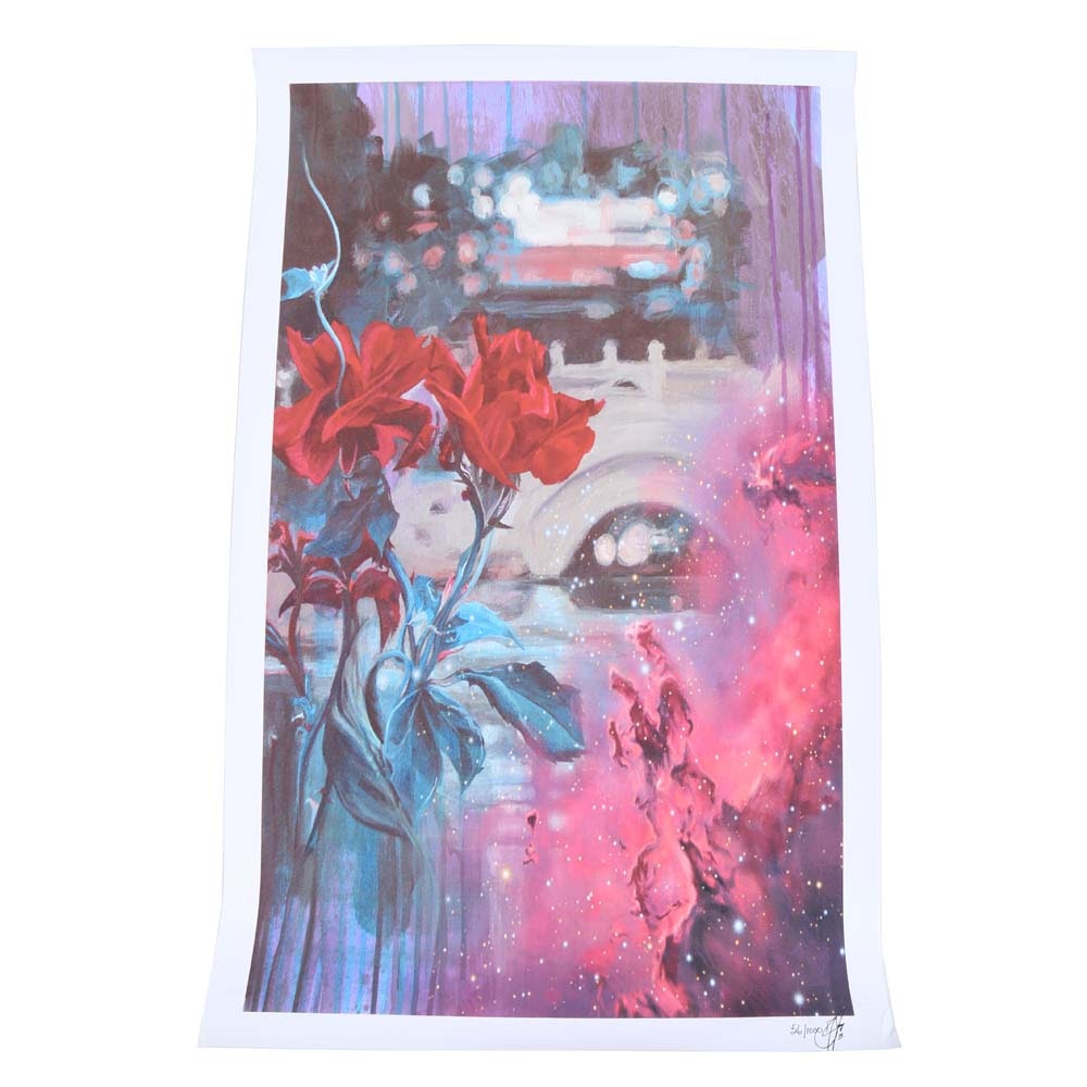 "Limited Edition Giclée ""Flower Bridge Cosmic"""