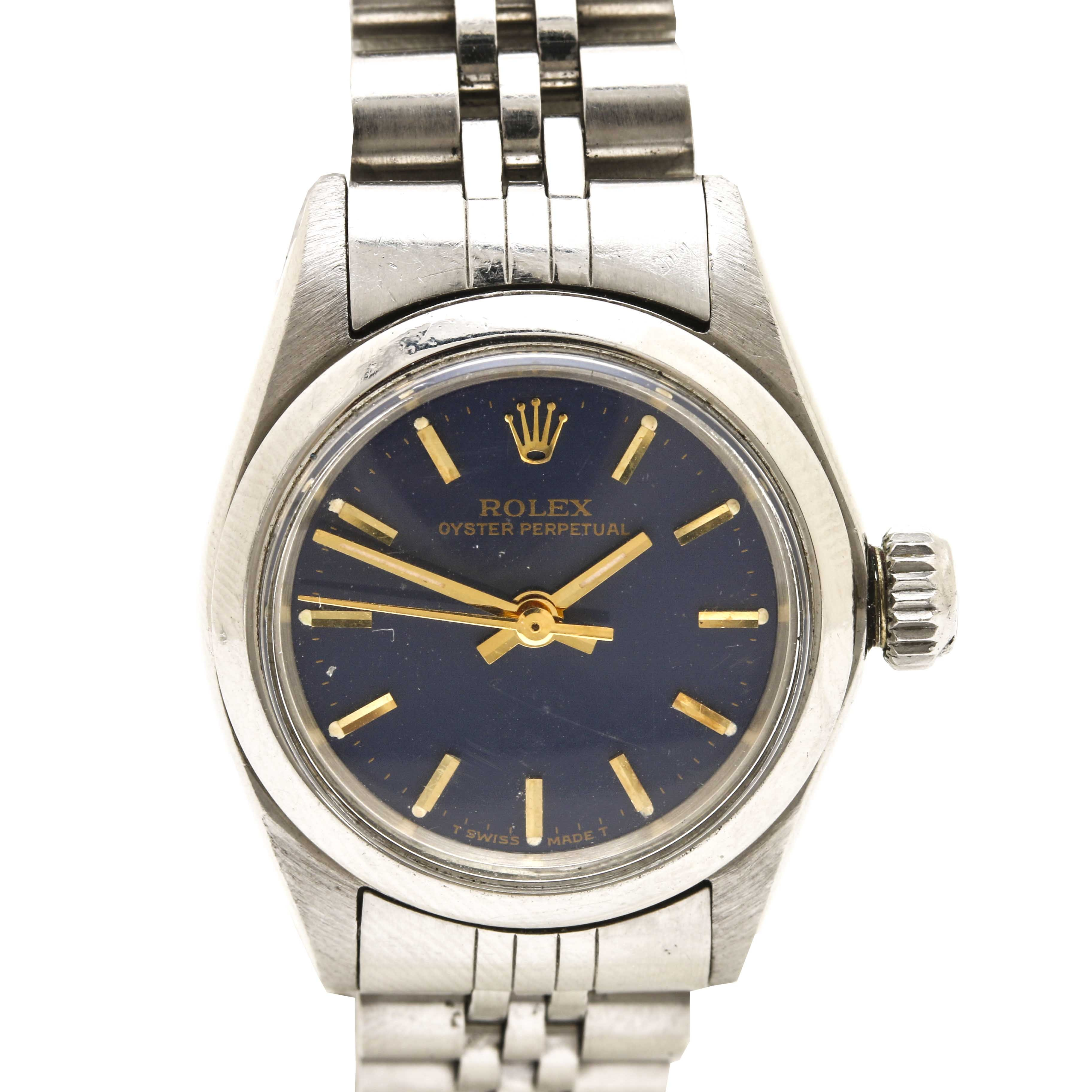Rolex Oyster Stainless Steel Wristwatch