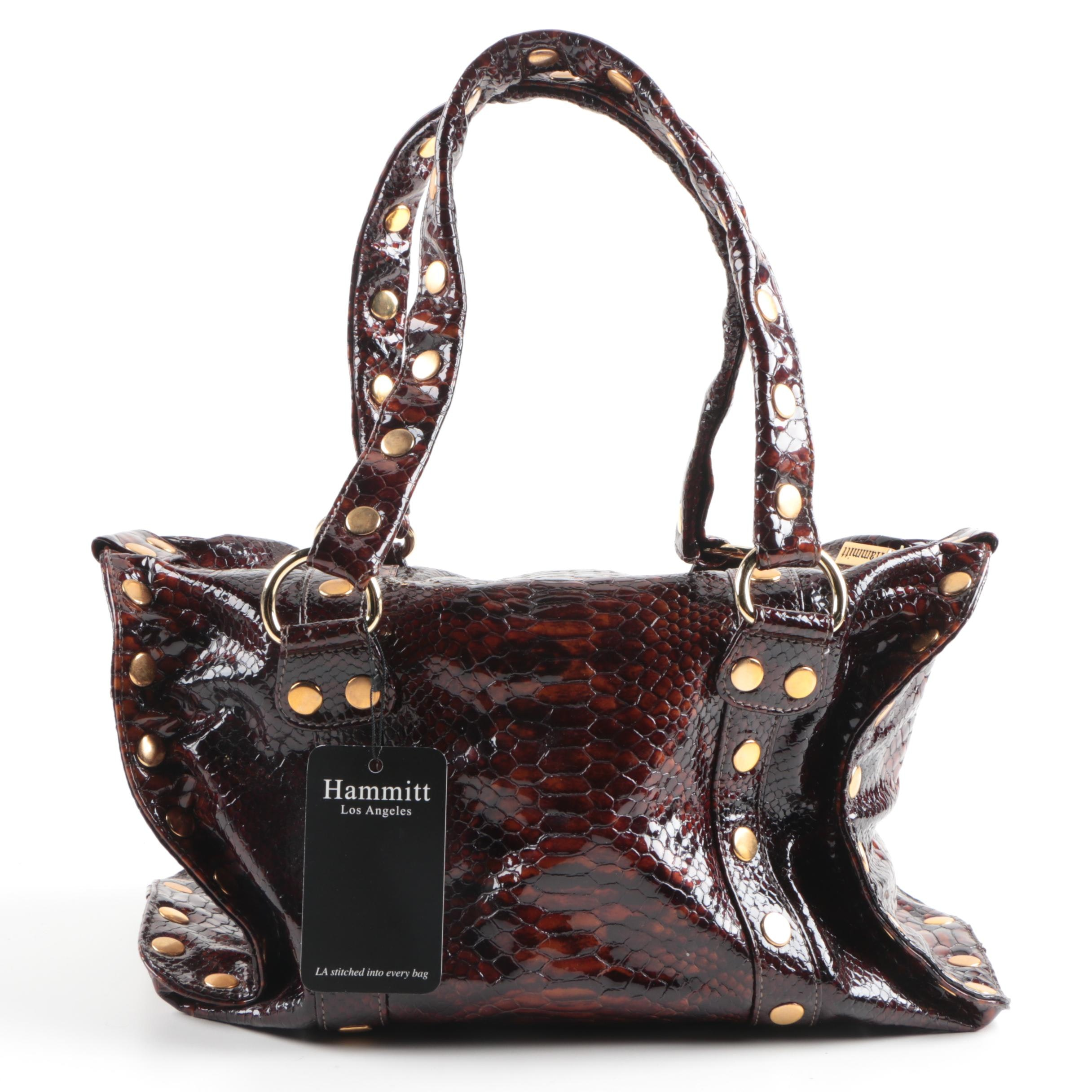 Hammitt Reptile Embossed Leather Handbag