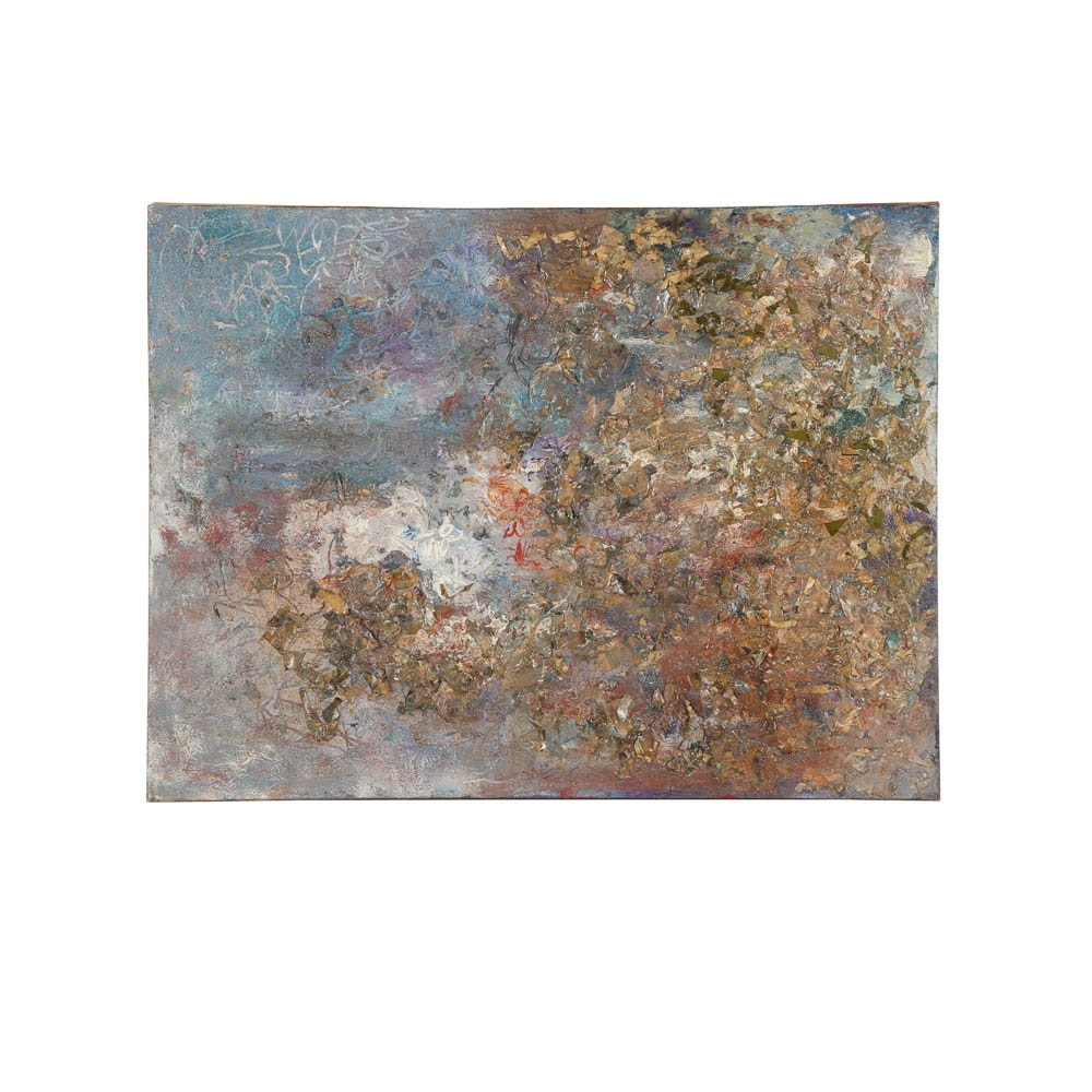 Louis Papp Abstract Mixed Media Painting on Canvas
