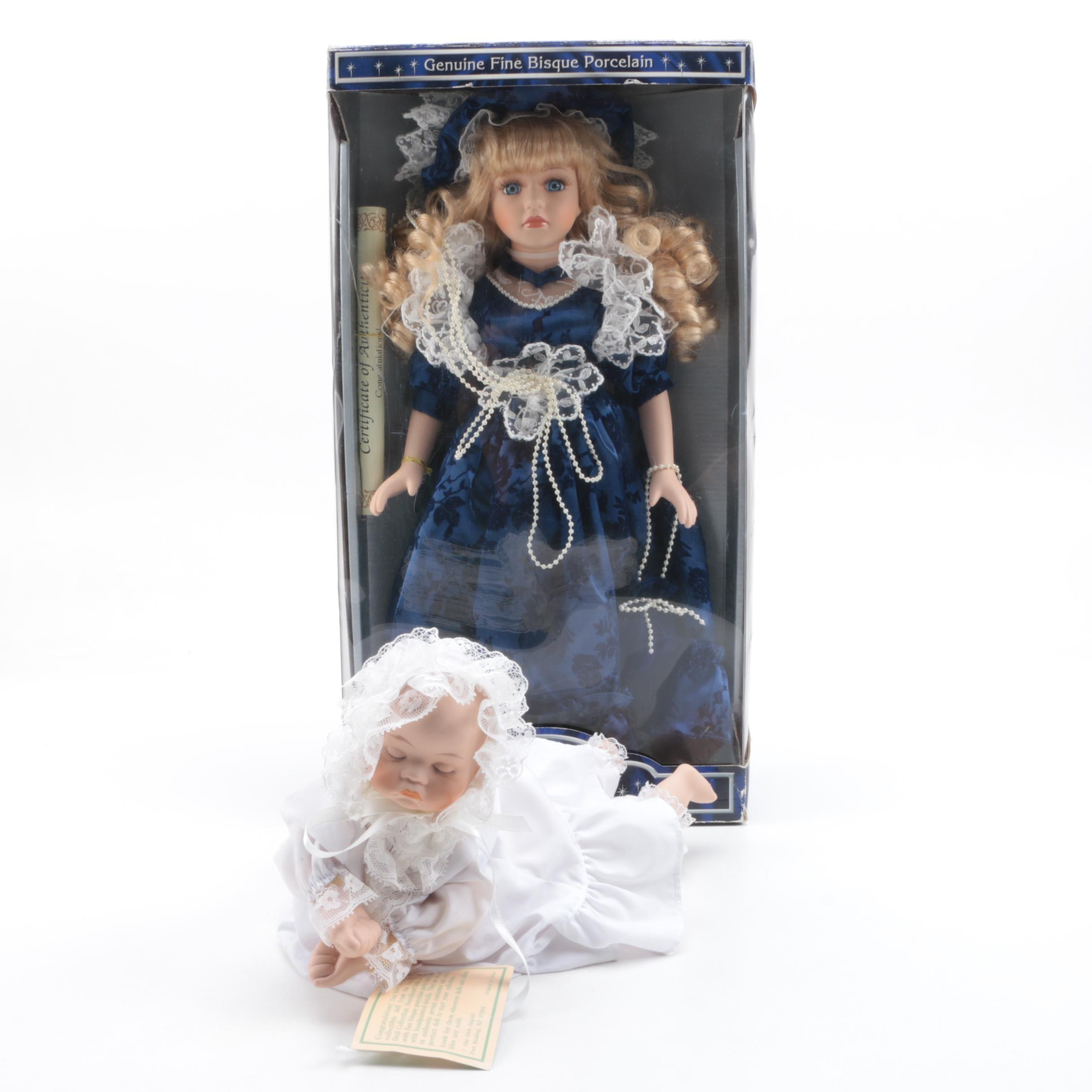 Collector's Choice and Musical Sweetheart Bisque Dolls