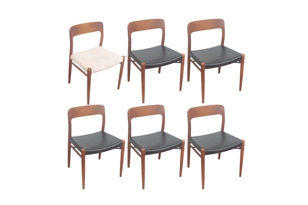 Six Danish Modern Dining Chairs