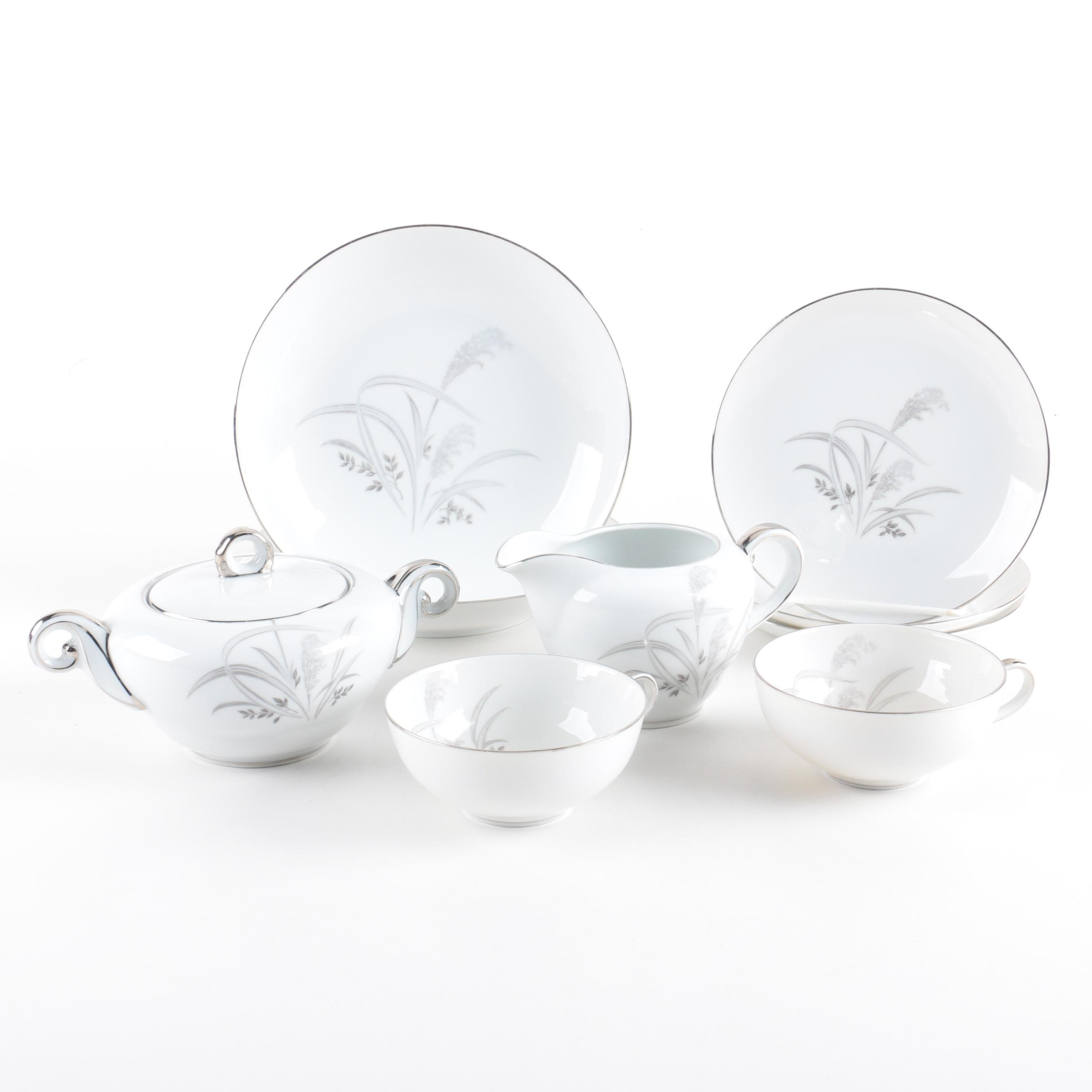 "Wentworth China, ""Silver Wheat"" Tableware"