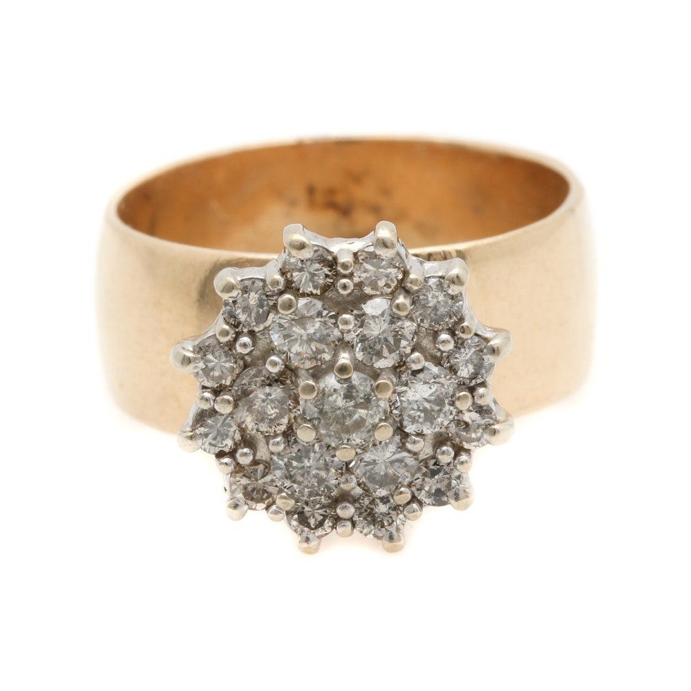 14K Two-Tone Gold 1.02 CTW Diamond Ring