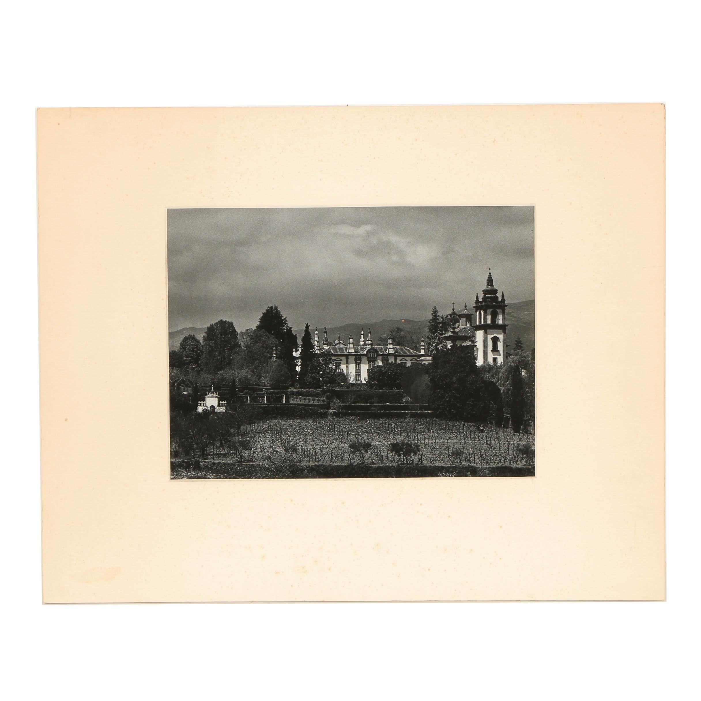 """Ann Parker 1970 Black-and-White Photograph """"Vila Mateus"""""""