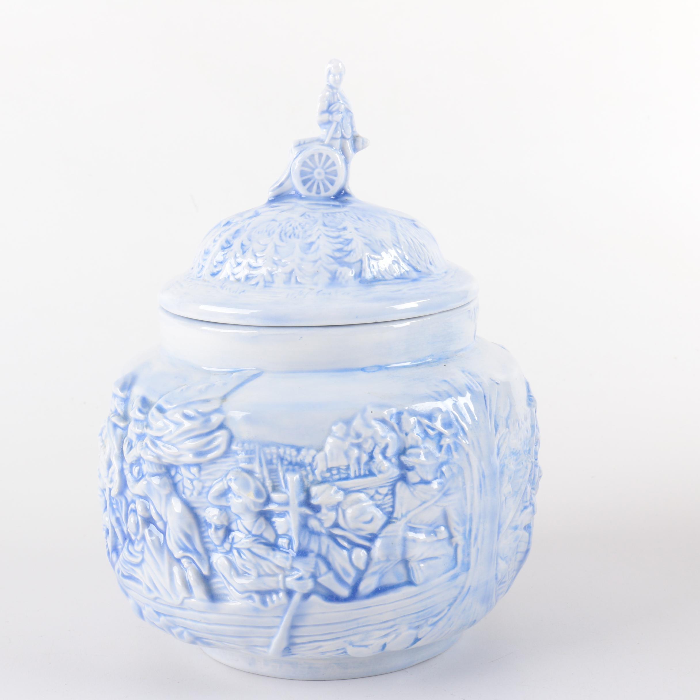 Cast Ceramic Lidded Container
