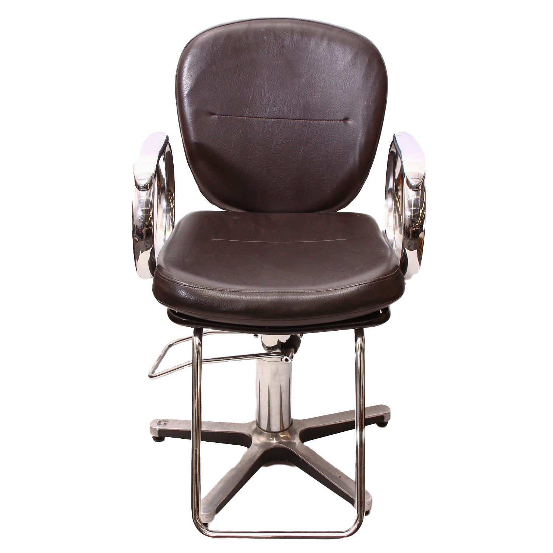 Brown Leather Salon Chair