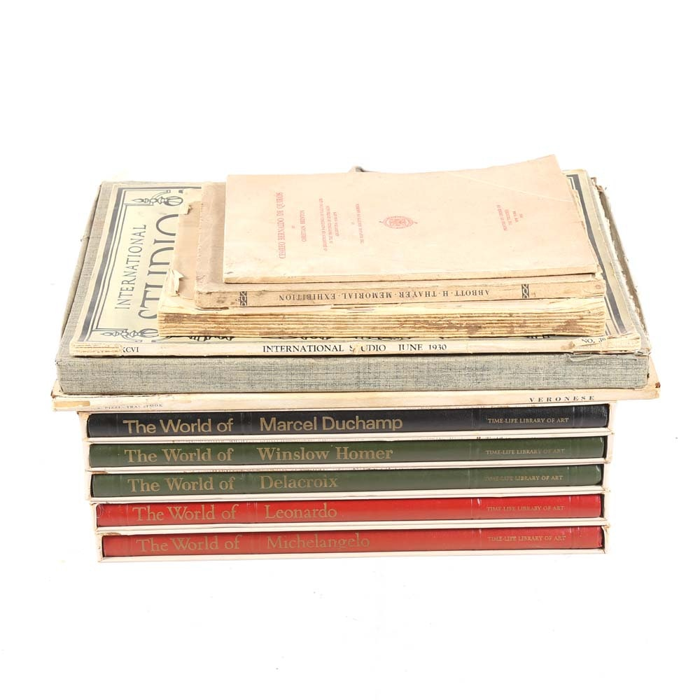 Collection of Vintage Art Books and Prints