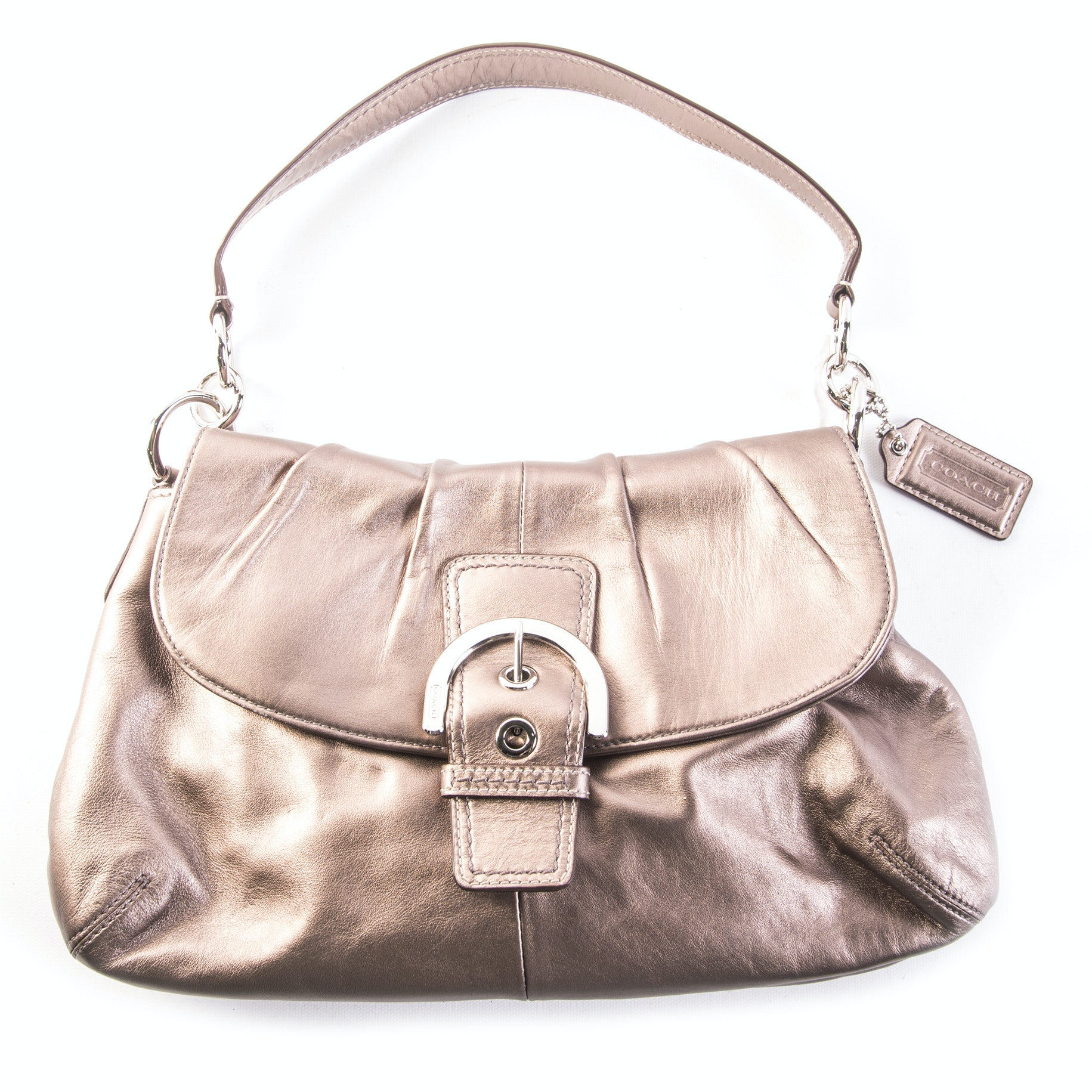 "Coach ""Soho"" Bronze Leather Handbag"