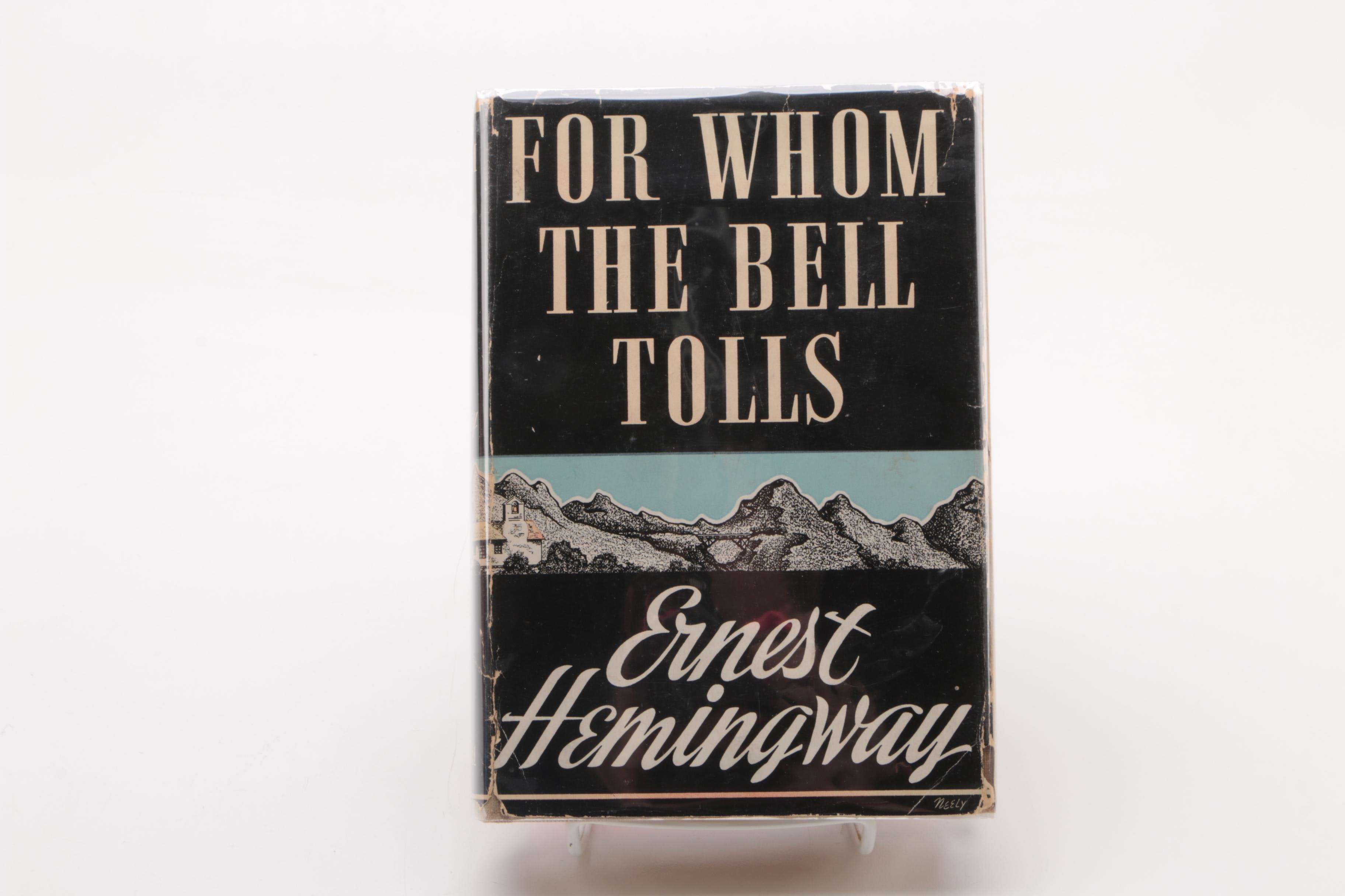 """1940 First Edition """"For Whom the Bell Tolls"""" by Ernest Hemingway"""