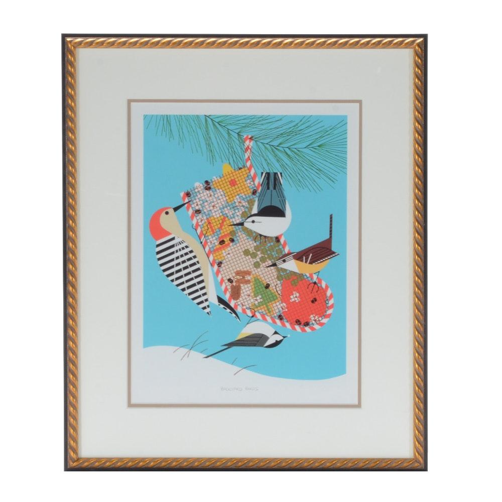 Open Edition Lithograph, Backyard Birds