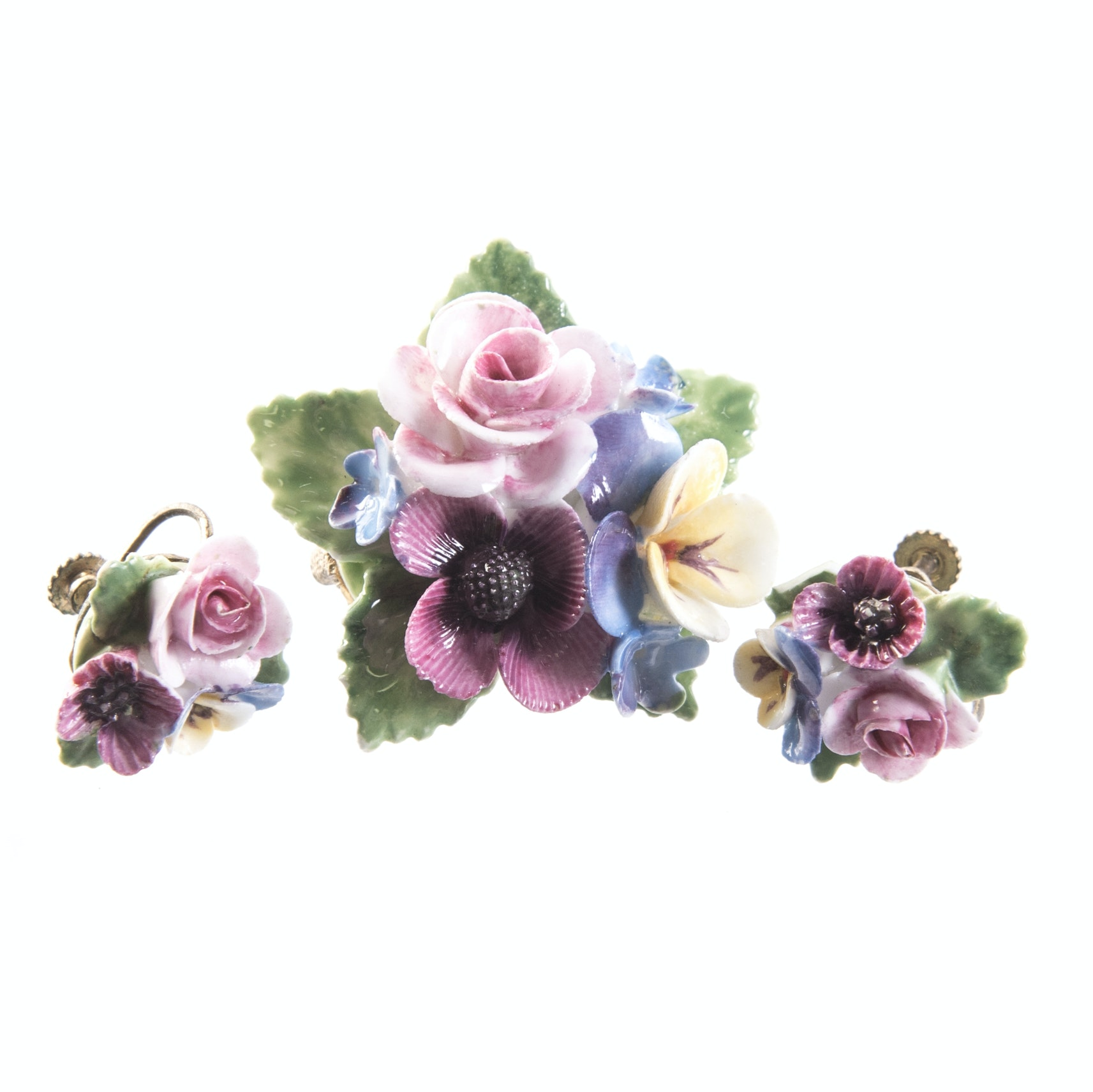 Crown Staffordshire Demi-Parure