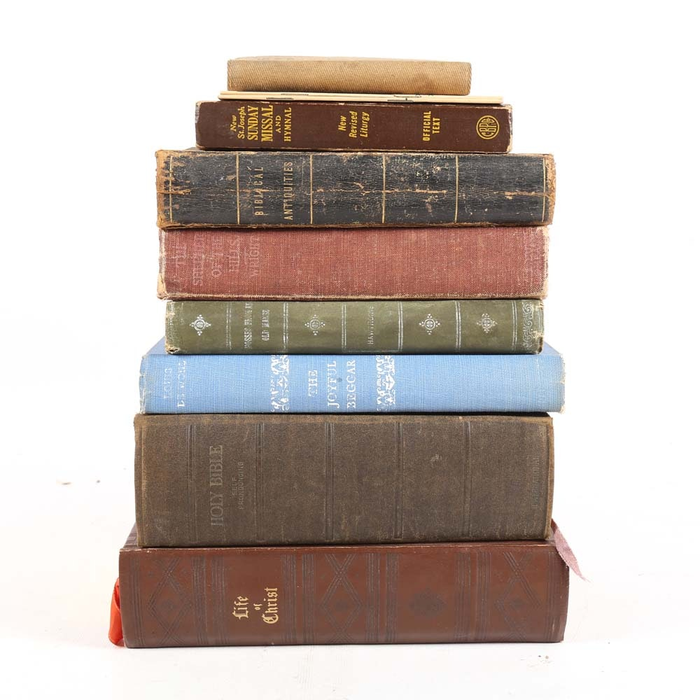 Antique and Vintage Bibles and Religious Book Collection
