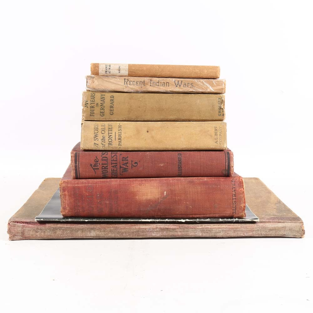Antique and Vintage War Book Collection