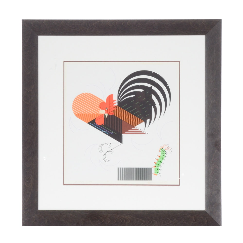 Charley Harper Signed Limited Edition Serigraph, Crawling Tall