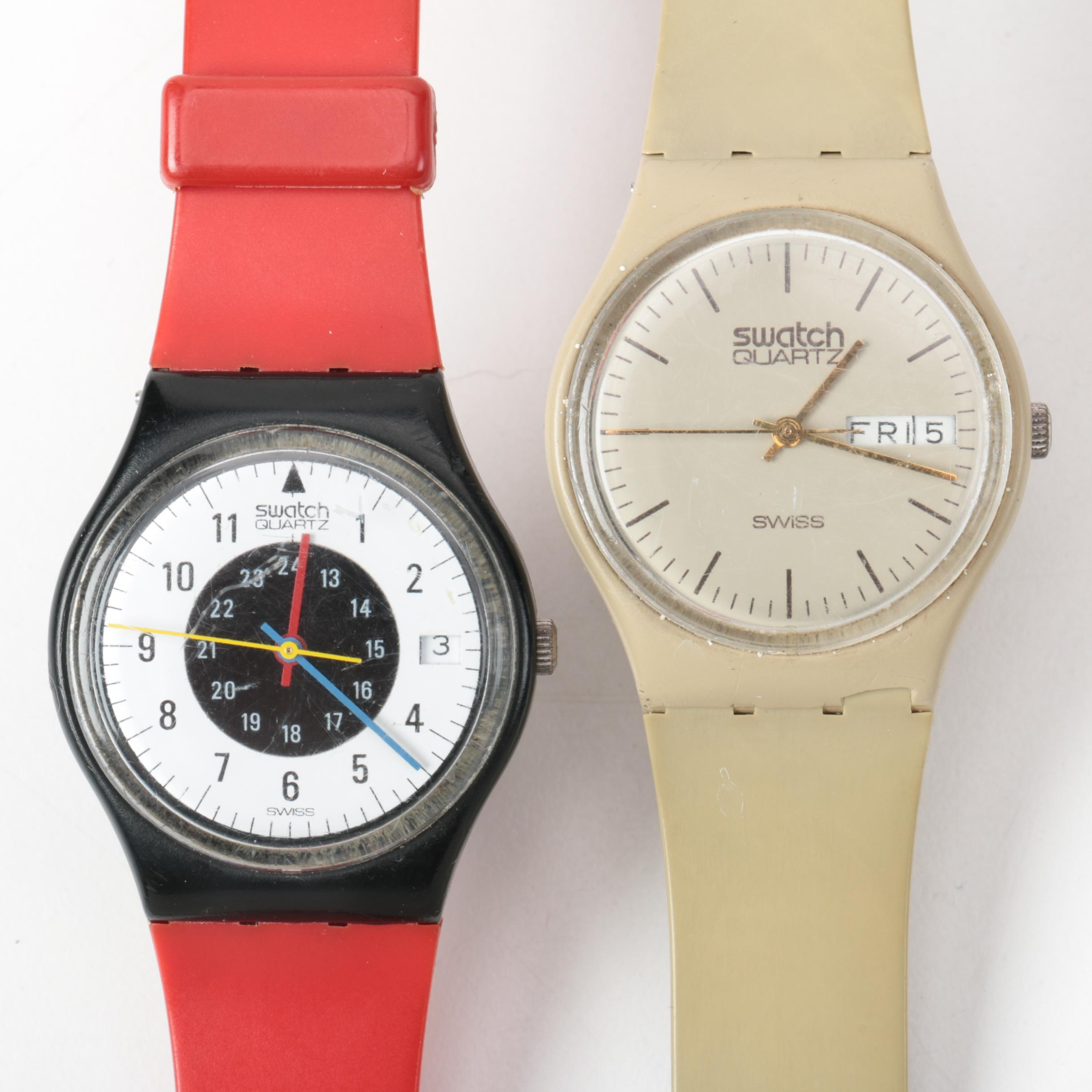 Pair of Swatch Analog Wristwatches