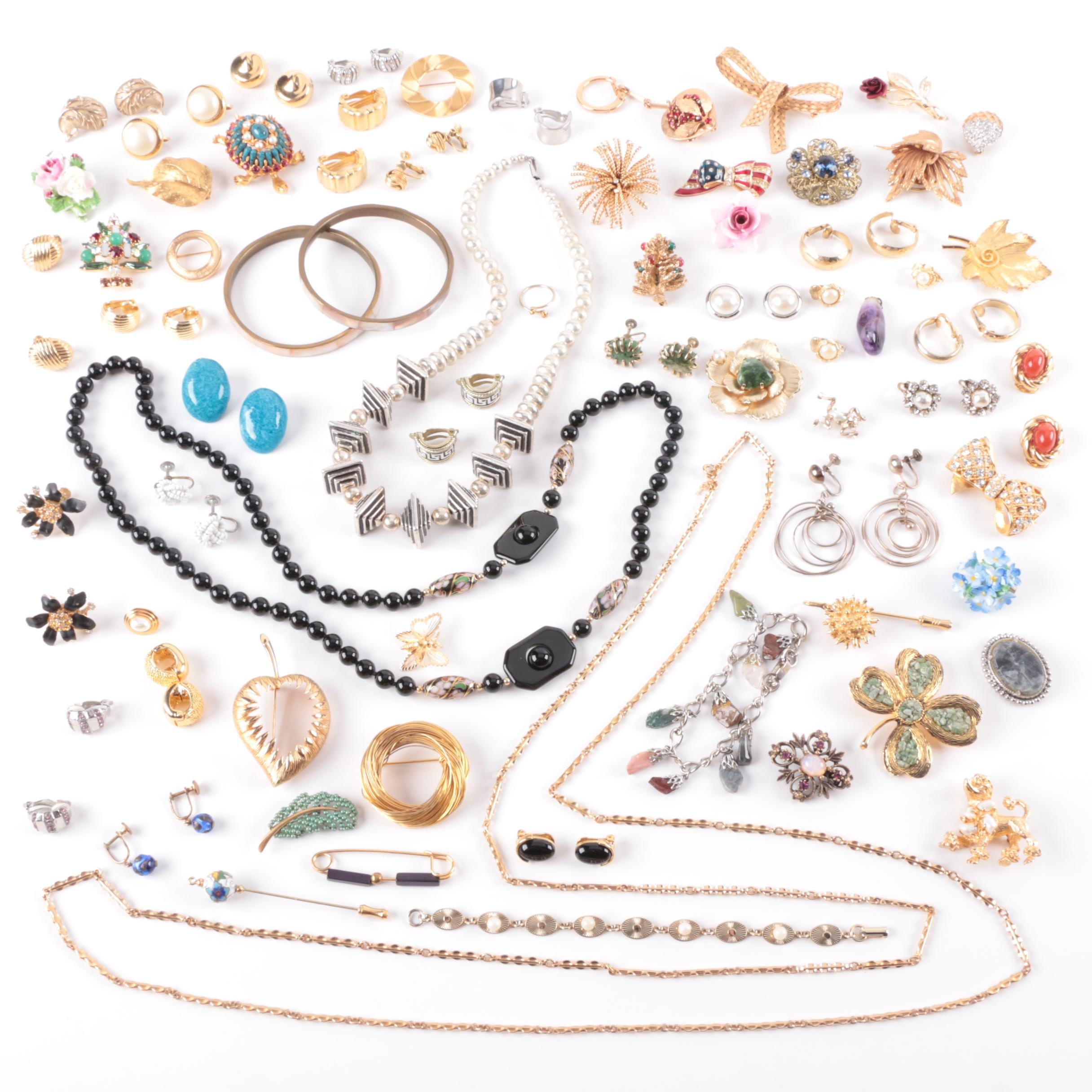 Large Assortment of Jewelry Including Coro