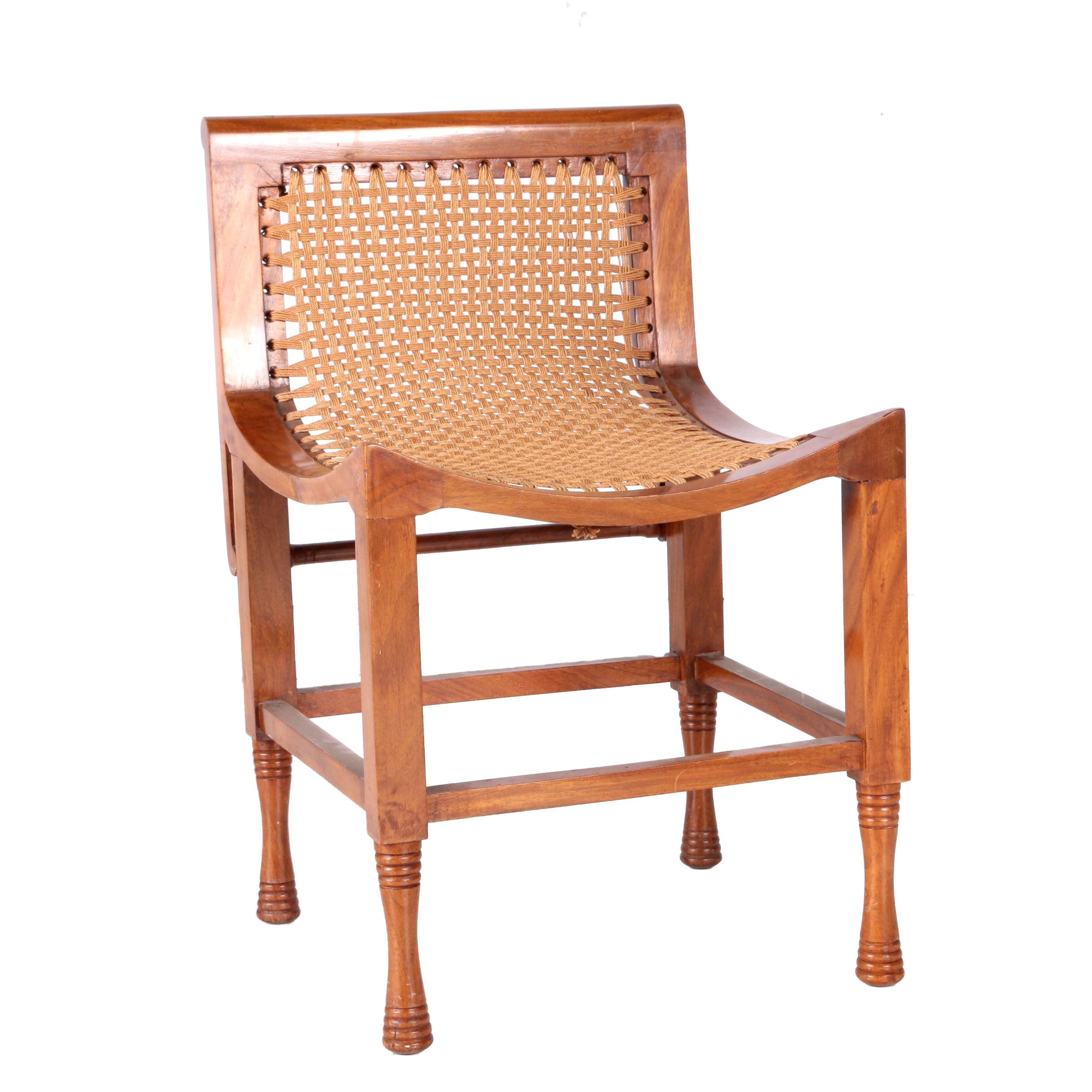 Egyptian Style Mahogany Side Chair