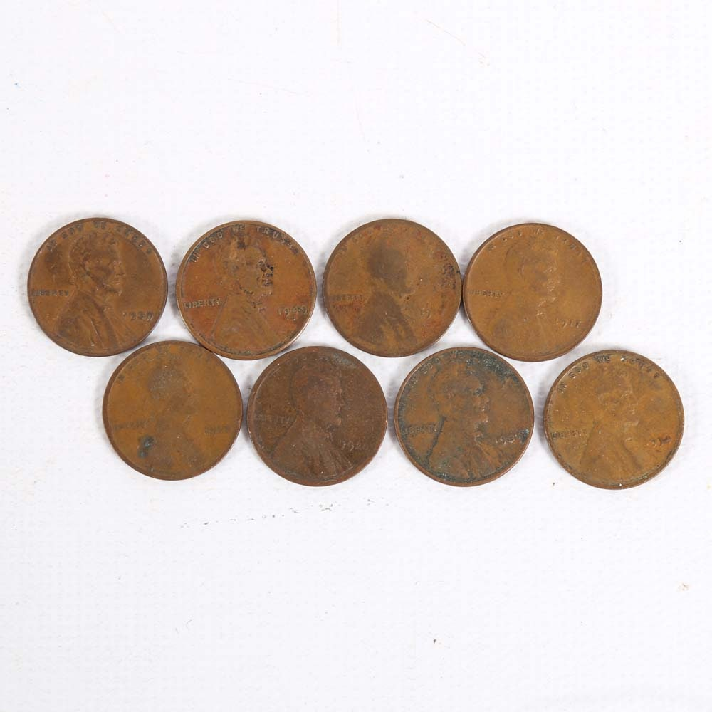Early 1900s U.S. Lincoln Wheat Pennies
