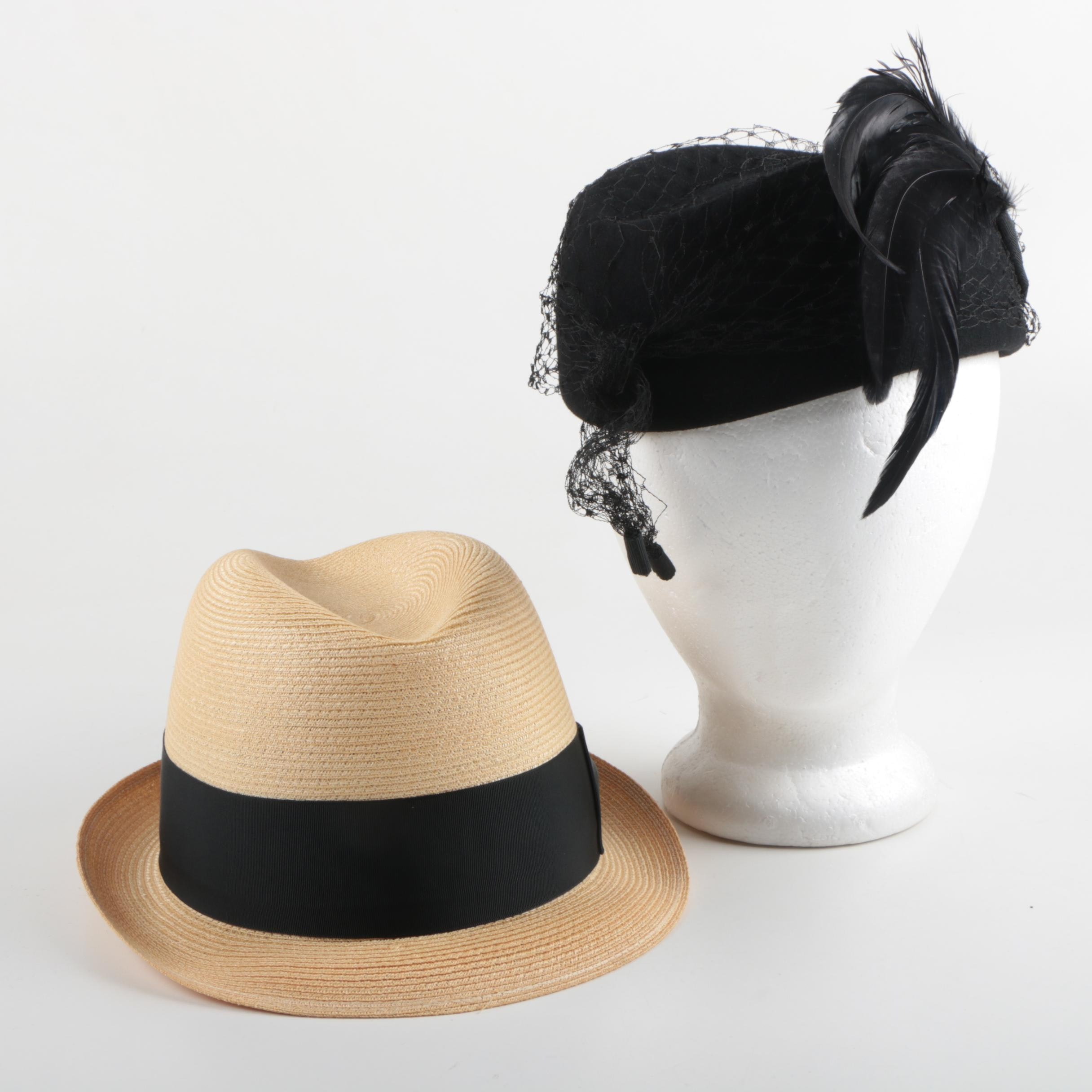 Women's and Men's Vintage Hats Including Mr. Charles and Knox