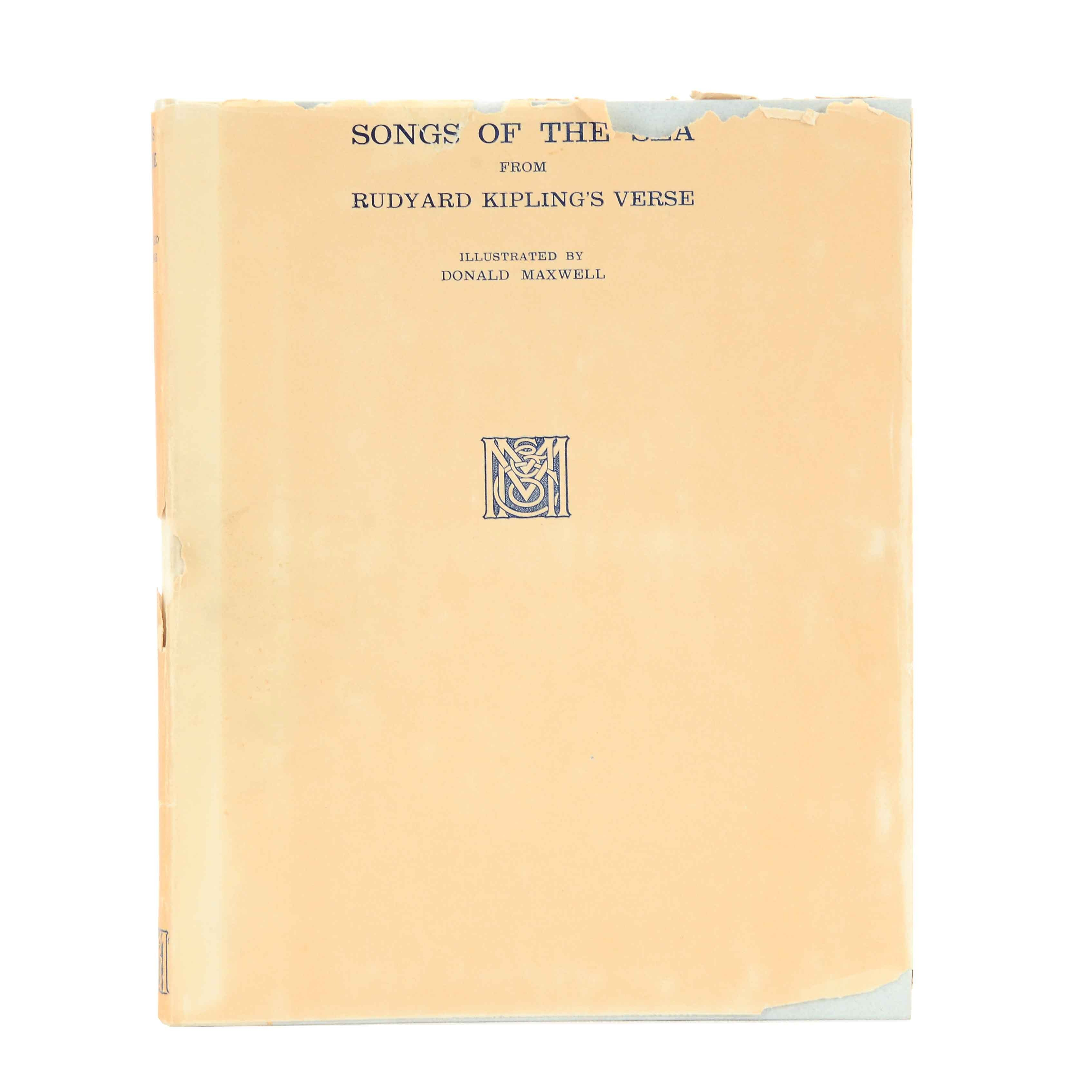 """Signed First Edition Rudyard Kipling """"Songs of the Sea"""""""