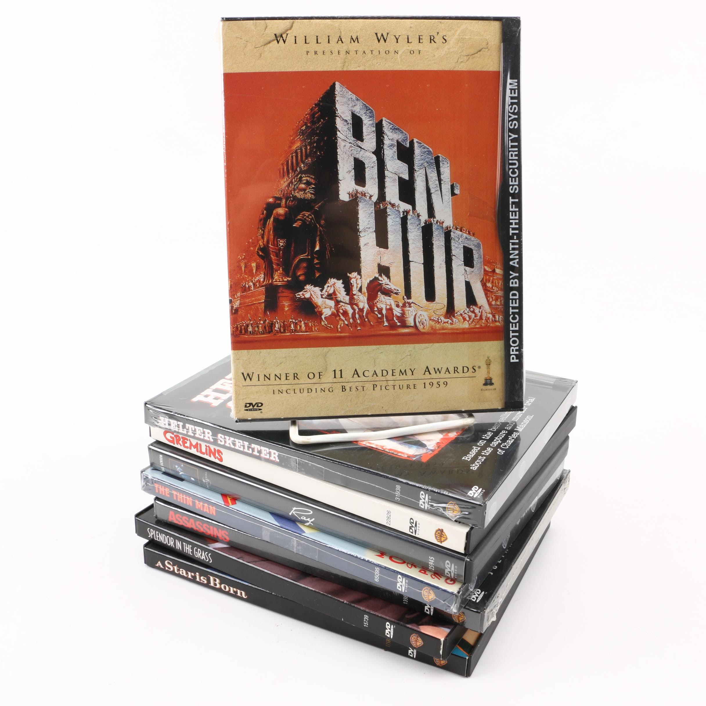 """""""Ben-Hur"""", """"Gremlins"""", """"The Thin Man"""", """"Ray"""", and Other DVDs"""