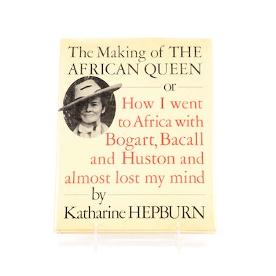 """Signed Katherine Hepburn """"The Making of the African Queen"""""""