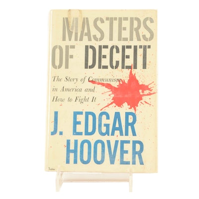 """J. Edgard Hoover Signed """"Masters of Deceit"""" in Hardcover"""