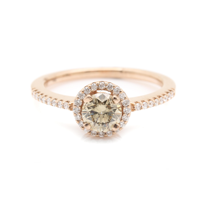 14K Rose Gold 0.76 CTW Diamond Ring