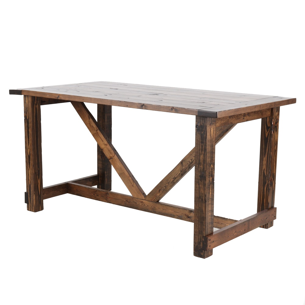 Counter Height Pine Table