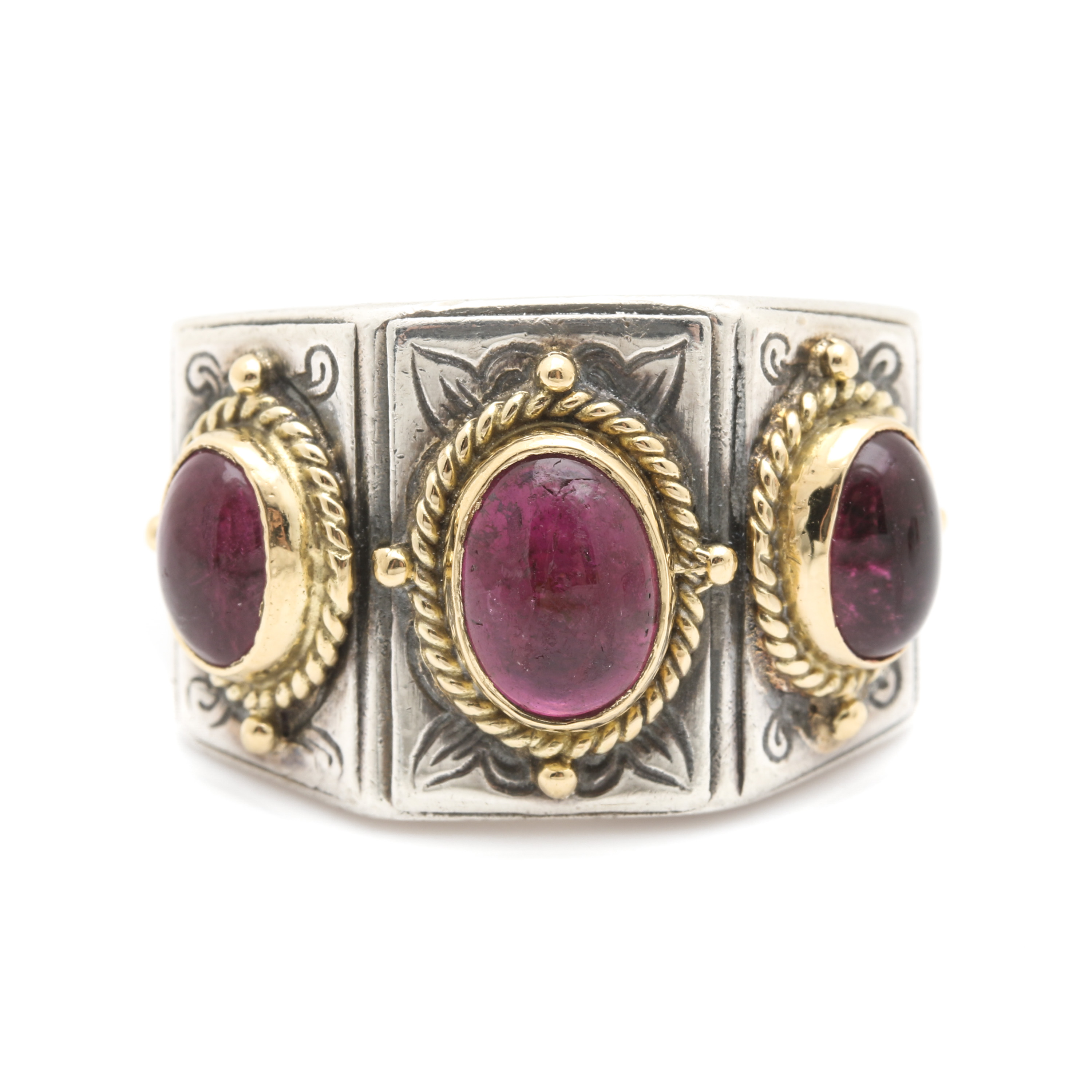 Konstantino 18k Yellow Gold Band Ring w/ Pink Sapphires e8hSOgHe