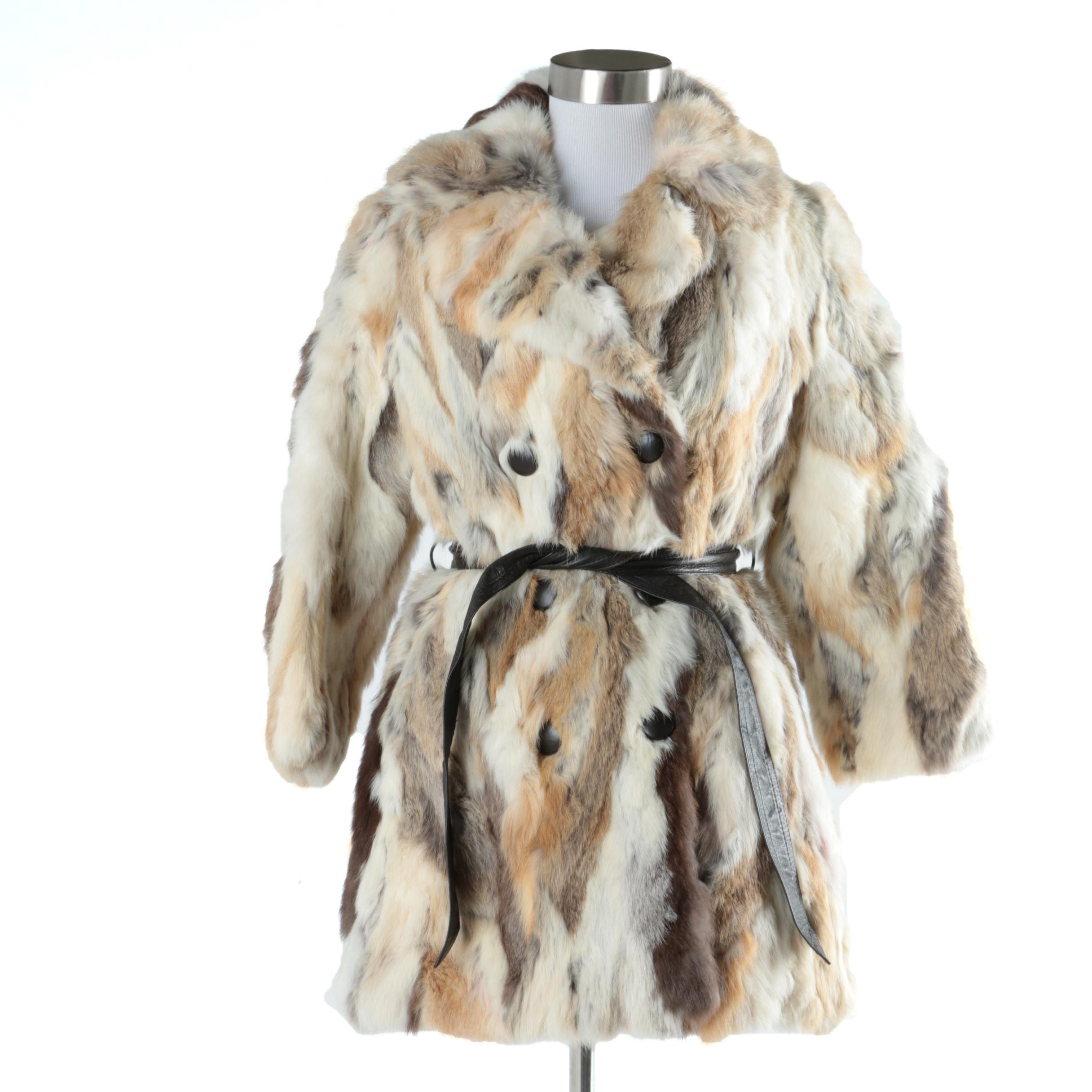 Vintage Rabbit Fur Coat