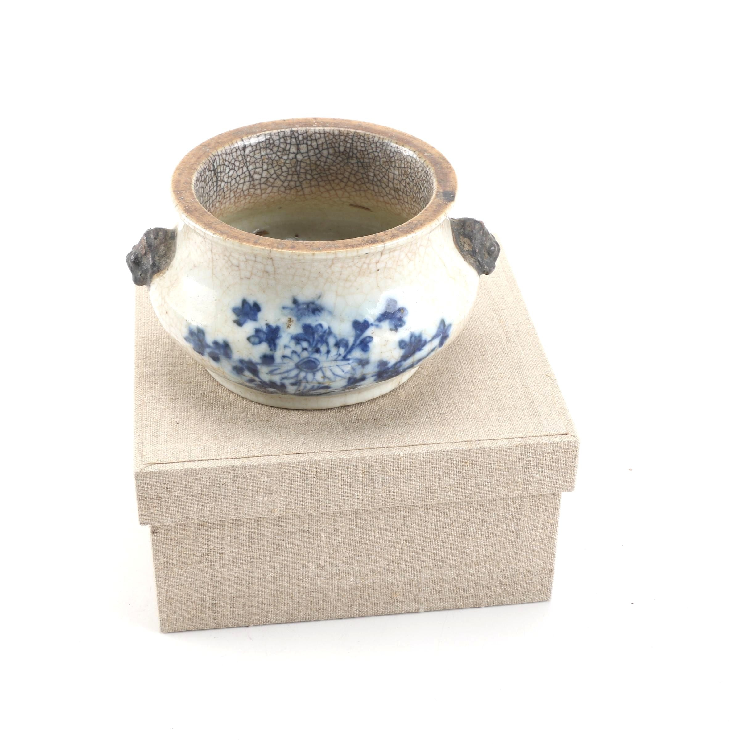 Chinese Tao-Kuang Style Earthenware Bulb Bowl