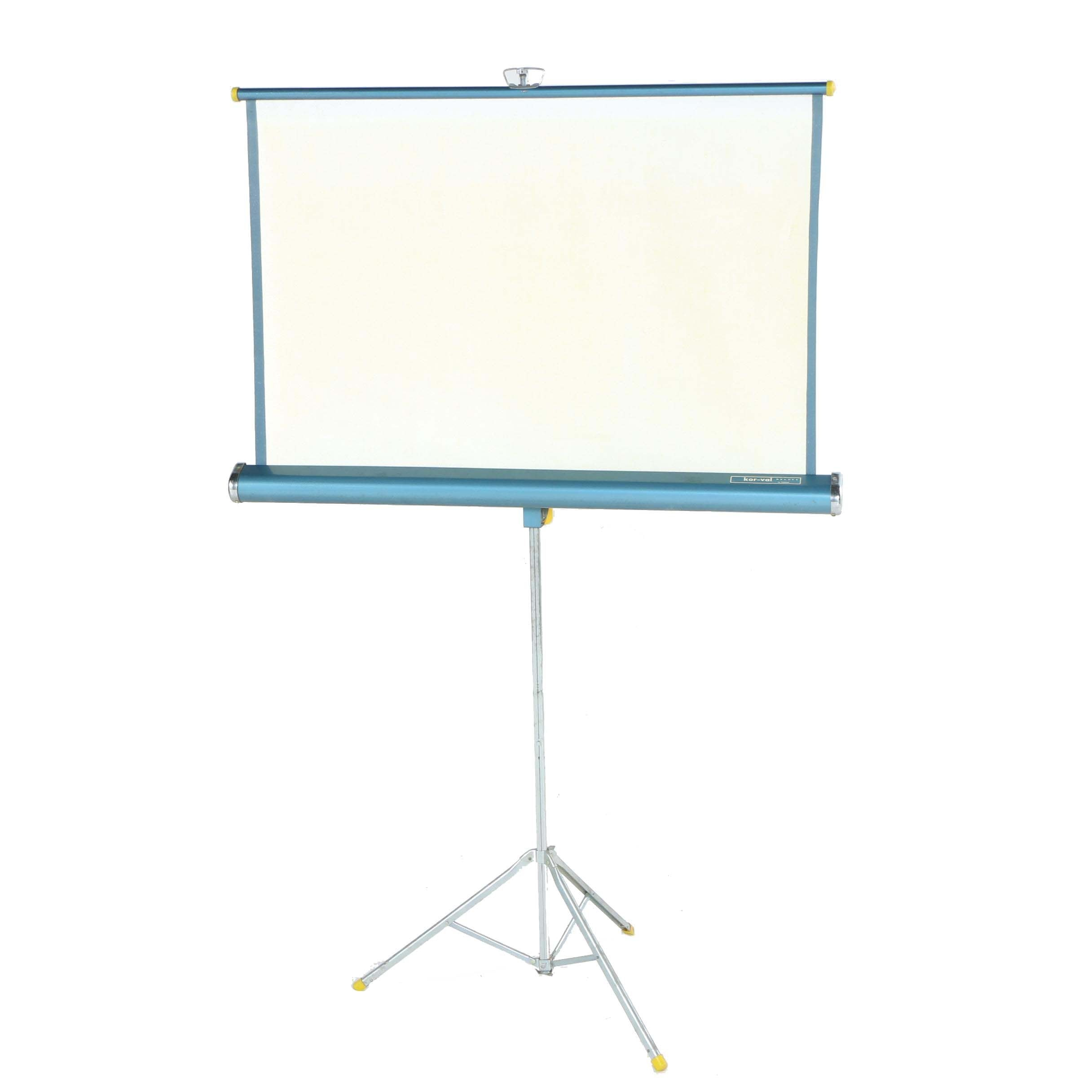 """Vintage Radiant """"Kor-Val Deluxe"""" Projection Screen"""