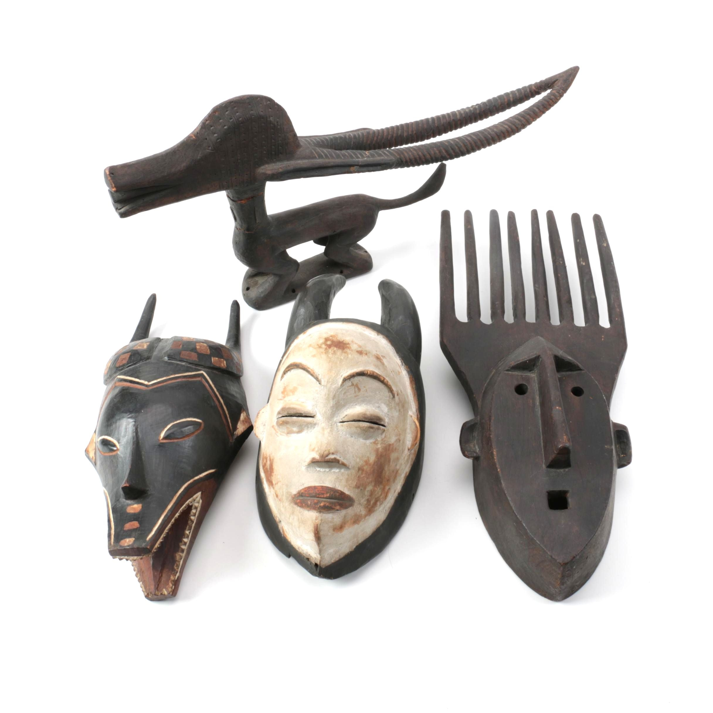 Central and West African Style Masks and Sculpture