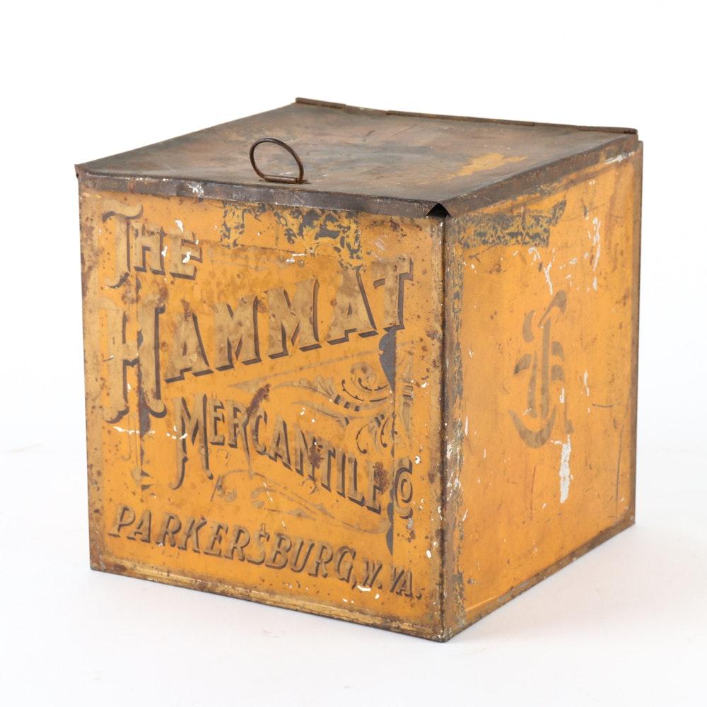Antique Hammat Mercantile Company Tin